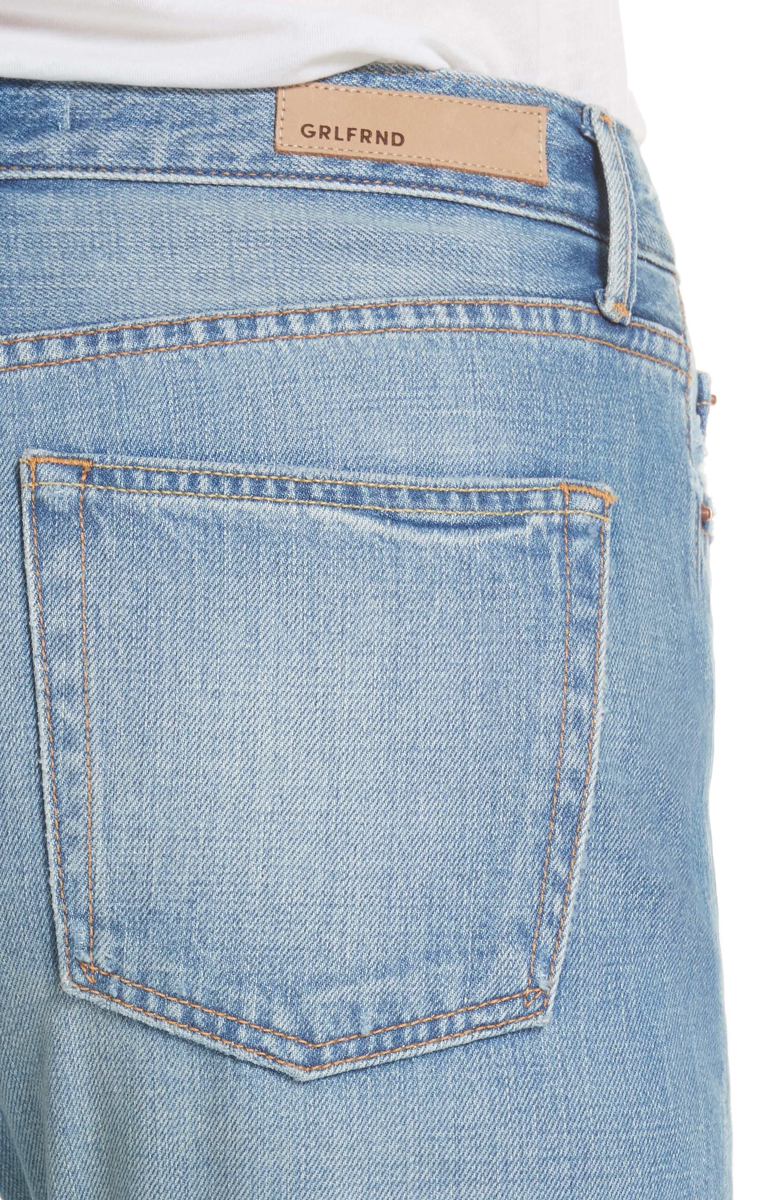 Kiara High Waist Ankle Boyfriend Jeans,                             Alternate thumbnail 4, color,                             464