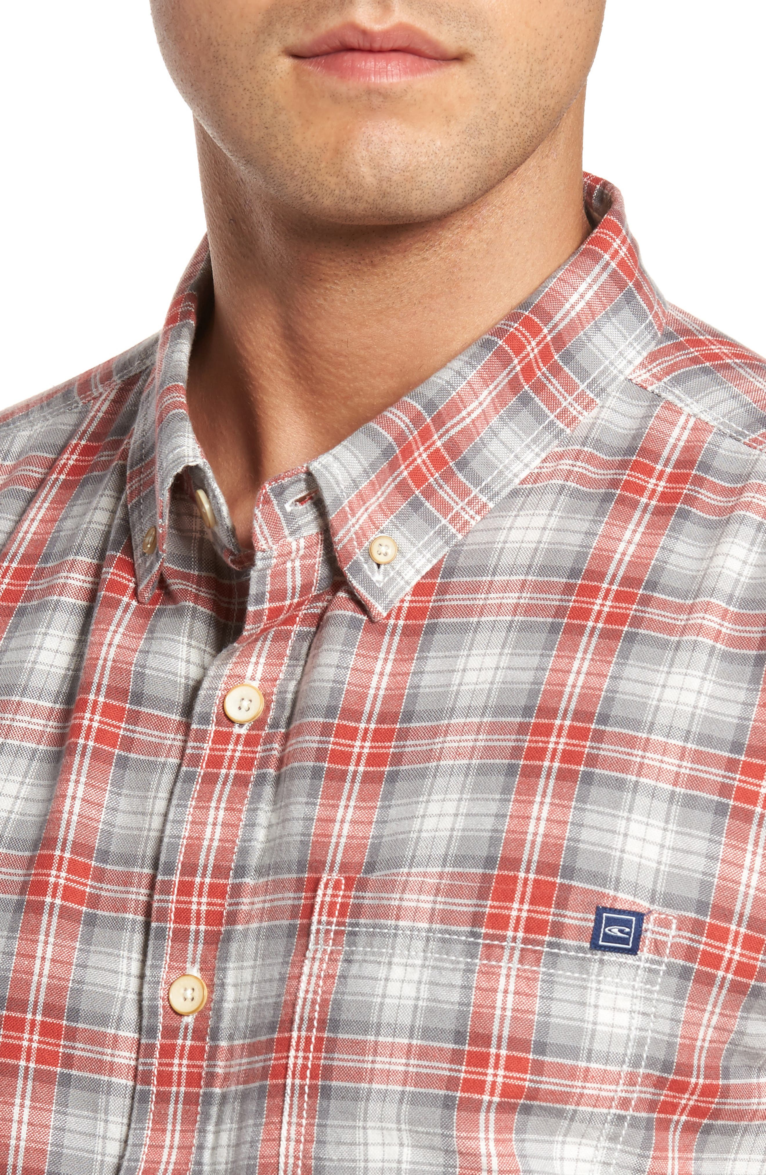 Voyager Plaid Sport Shirt,                             Alternate thumbnail 7, color,