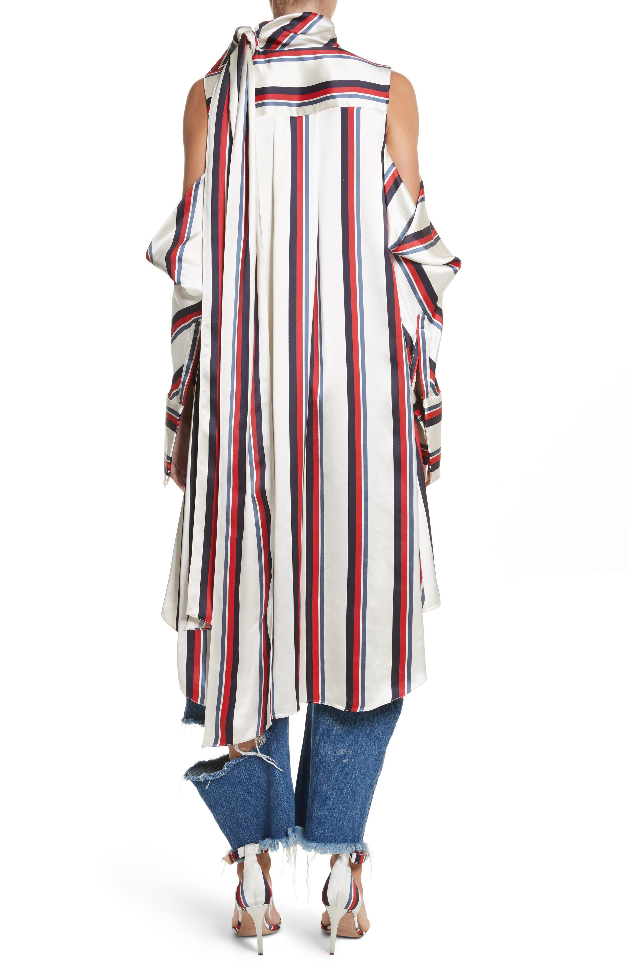 Stripe Off the Shoulder Blouse,                             Alternate thumbnail 2, color,