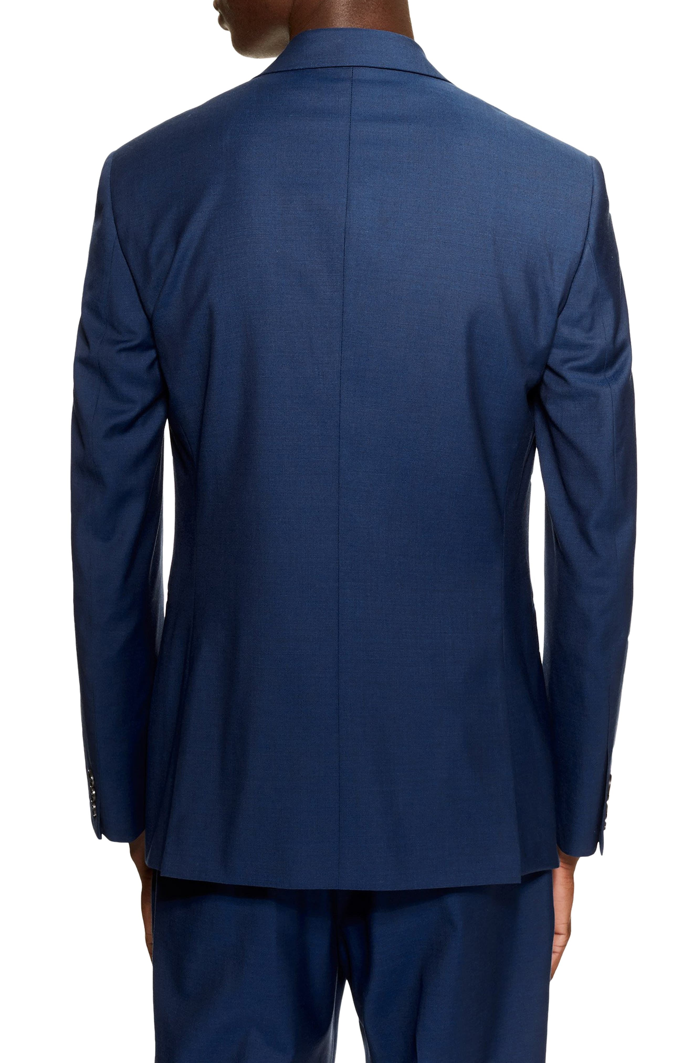 Casely Hayford Skinny Fit Suit Jacket,                             Alternate thumbnail 2, color,                             NAVY BLUE