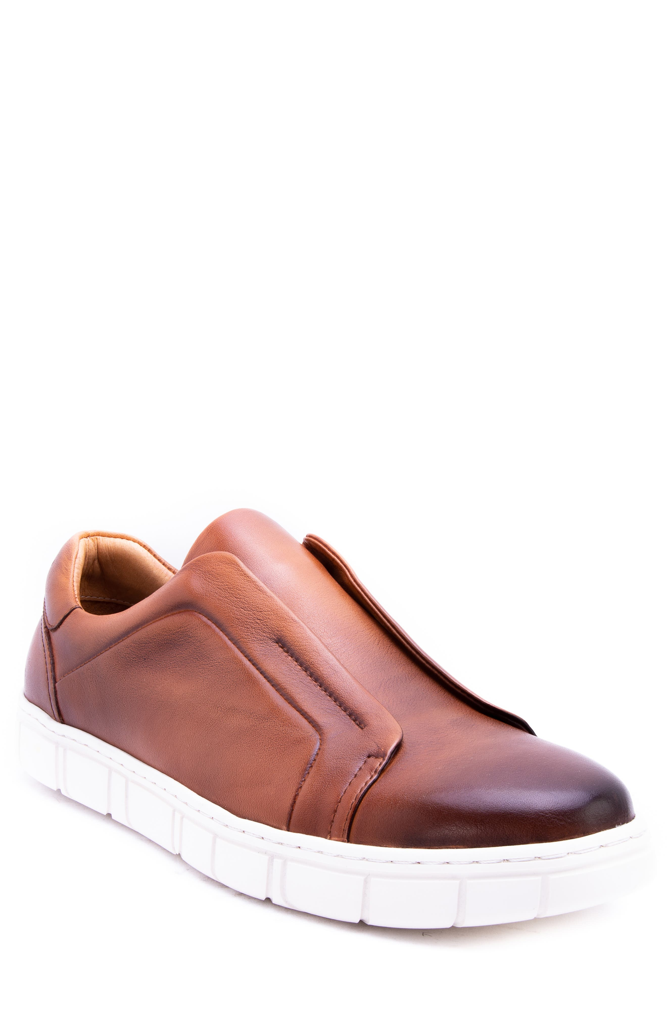 Zanzara Sorgh Laceless Sneaker, Brown