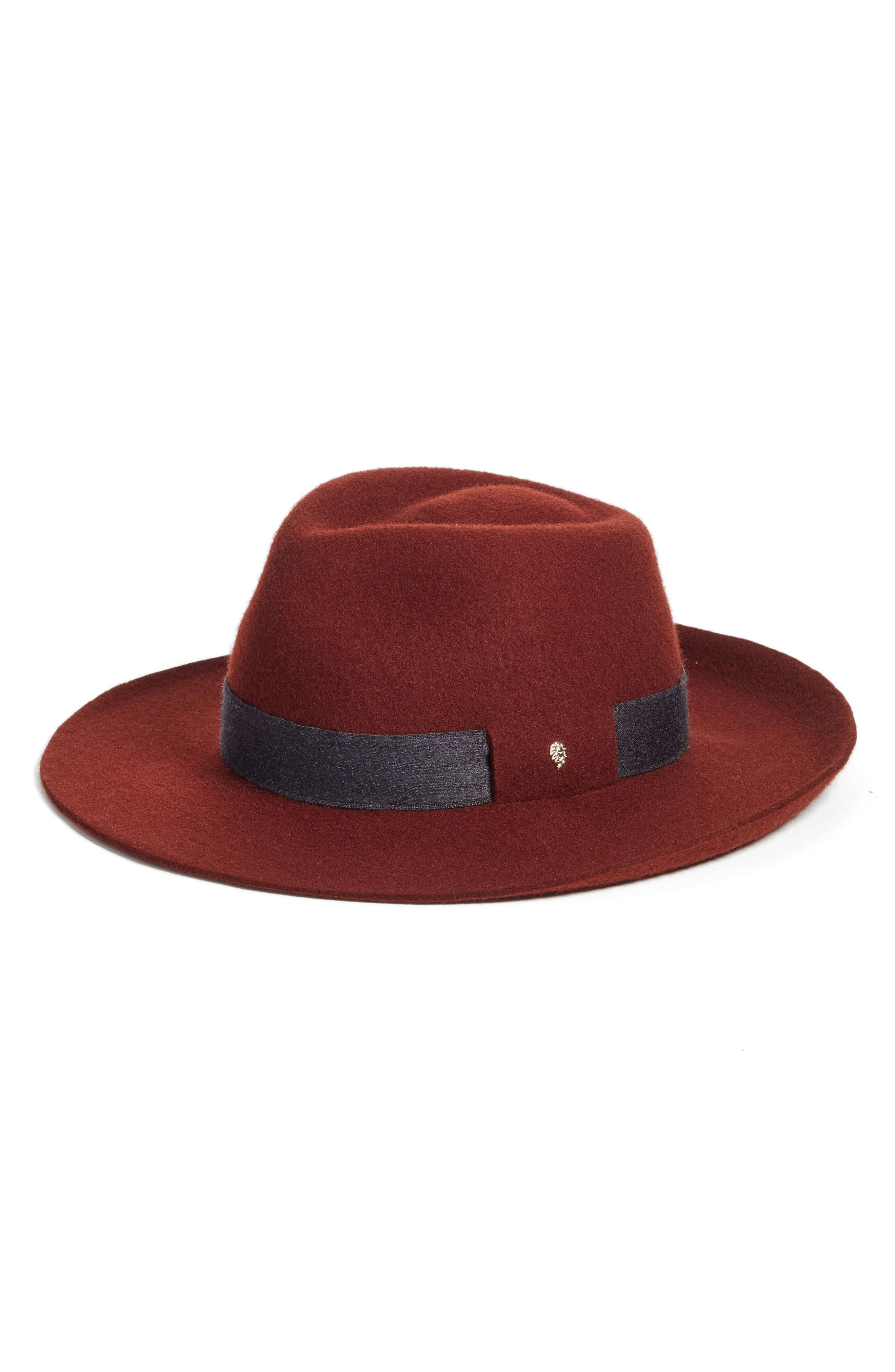 Brushed Wool Felt Fedora,                             Main thumbnail 2, color,