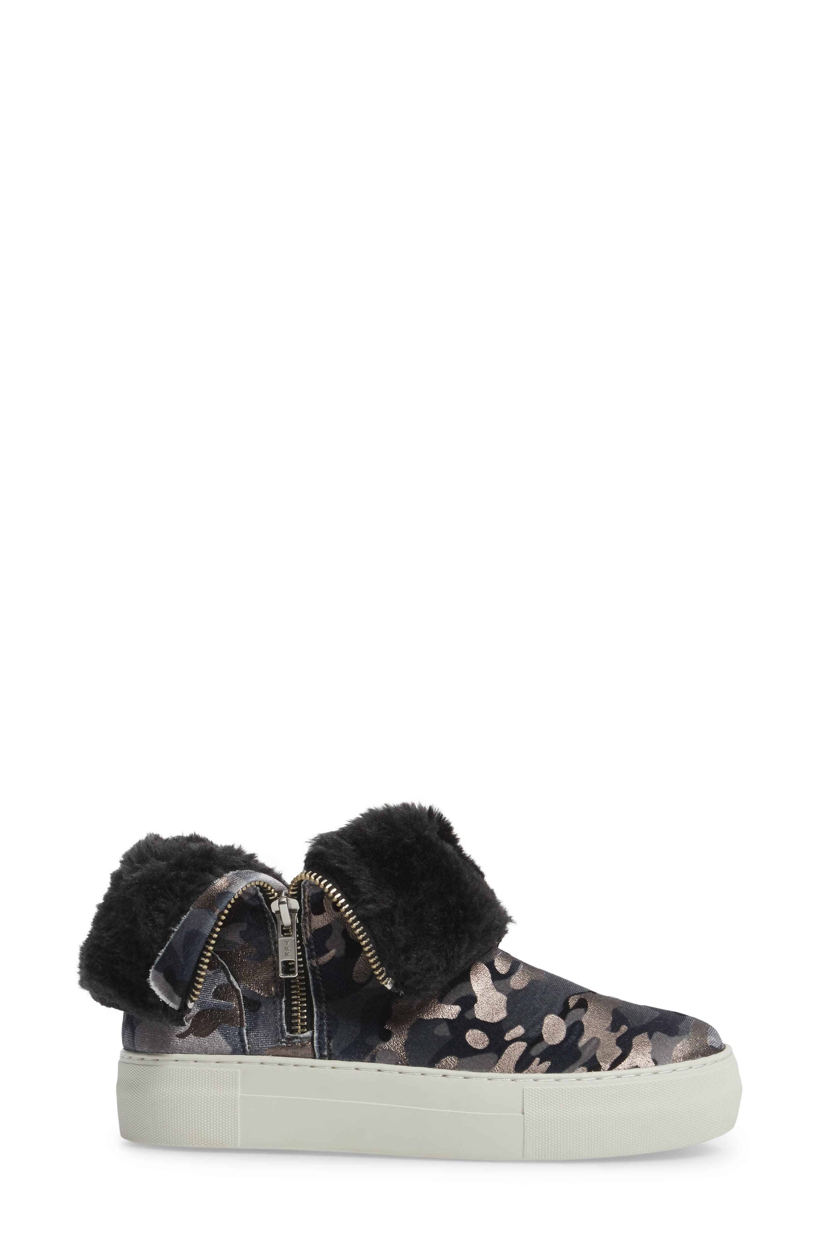Allie Faux Fur Lined Platform Boot,                             Alternate thumbnail 4, color,                             020