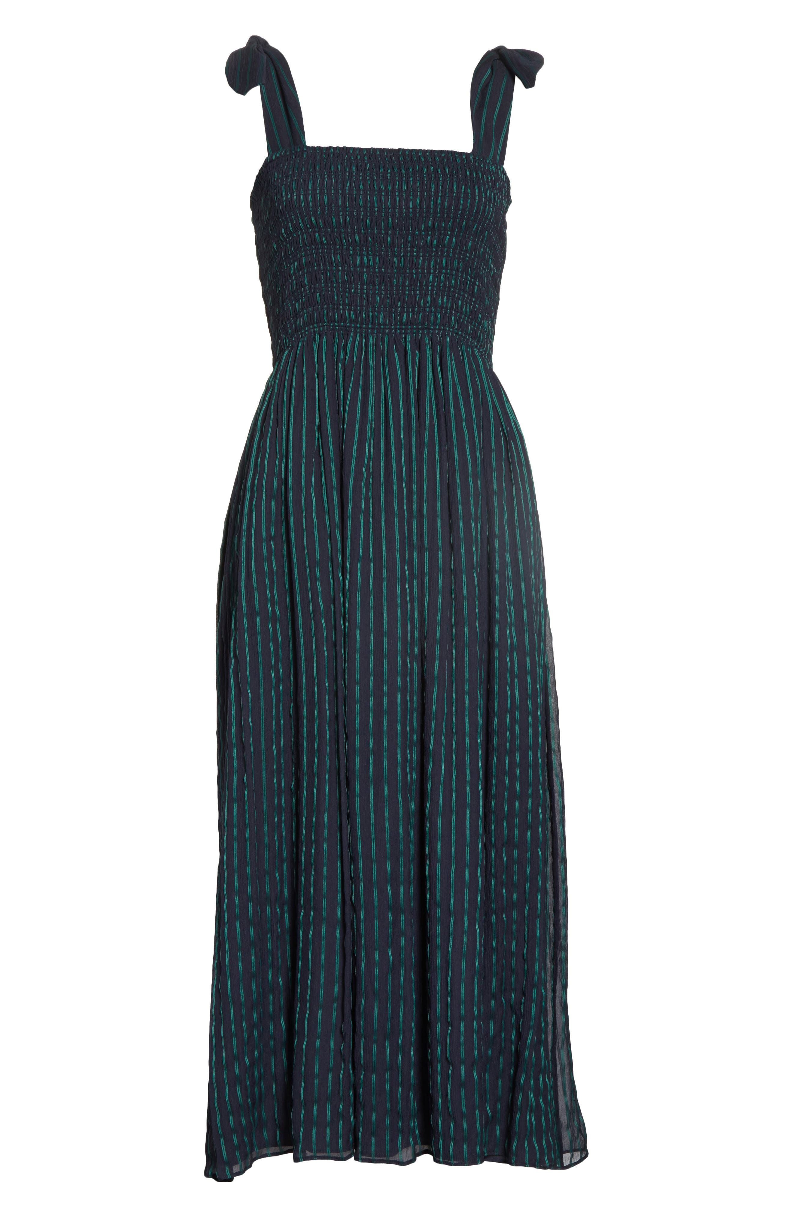 Stripe Chiffon Dress,                             Alternate thumbnail 6, color,                             470