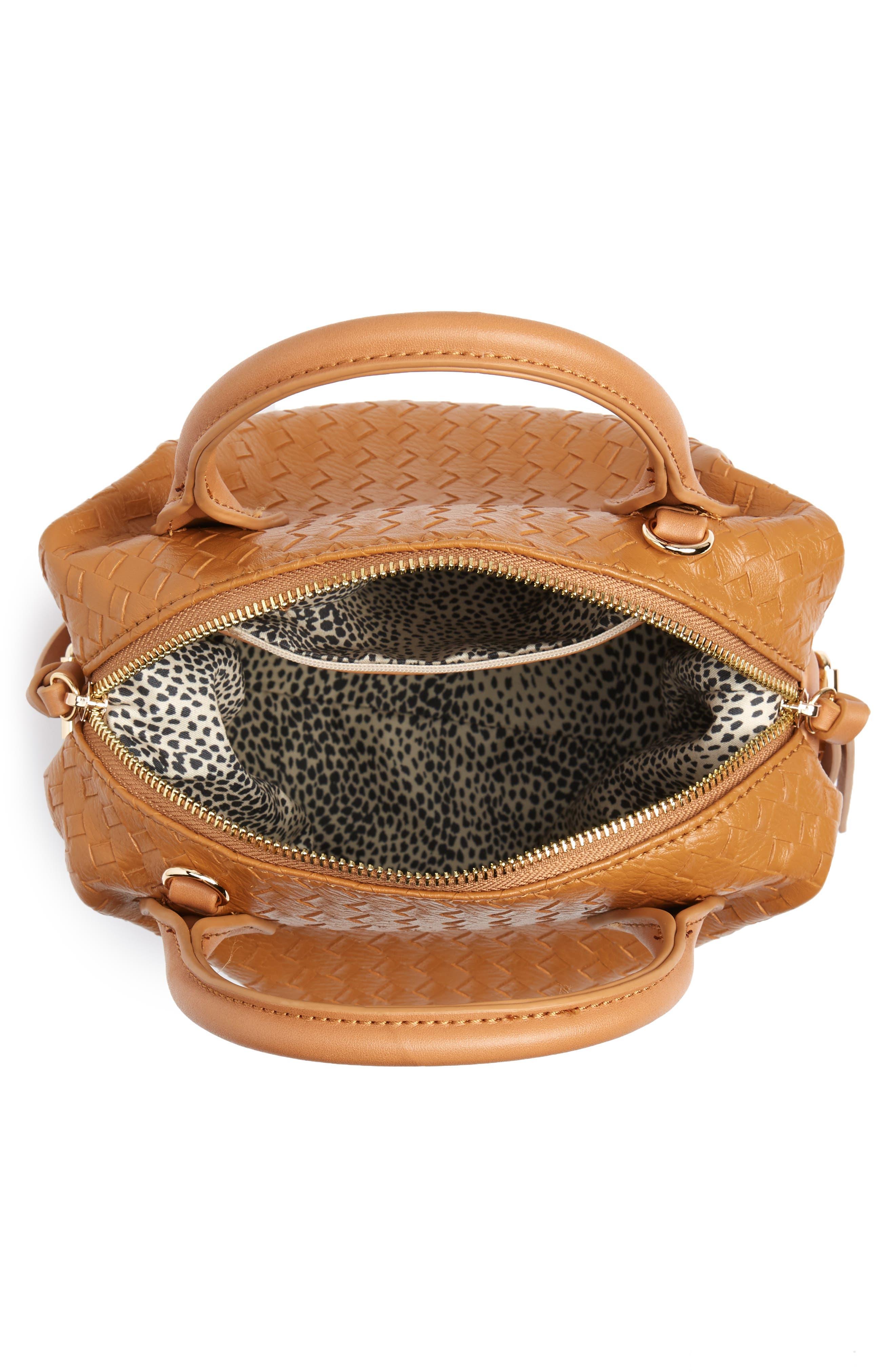 Patrice Woven Faux Leather Mini Satchel,                             Alternate thumbnail 8, color,