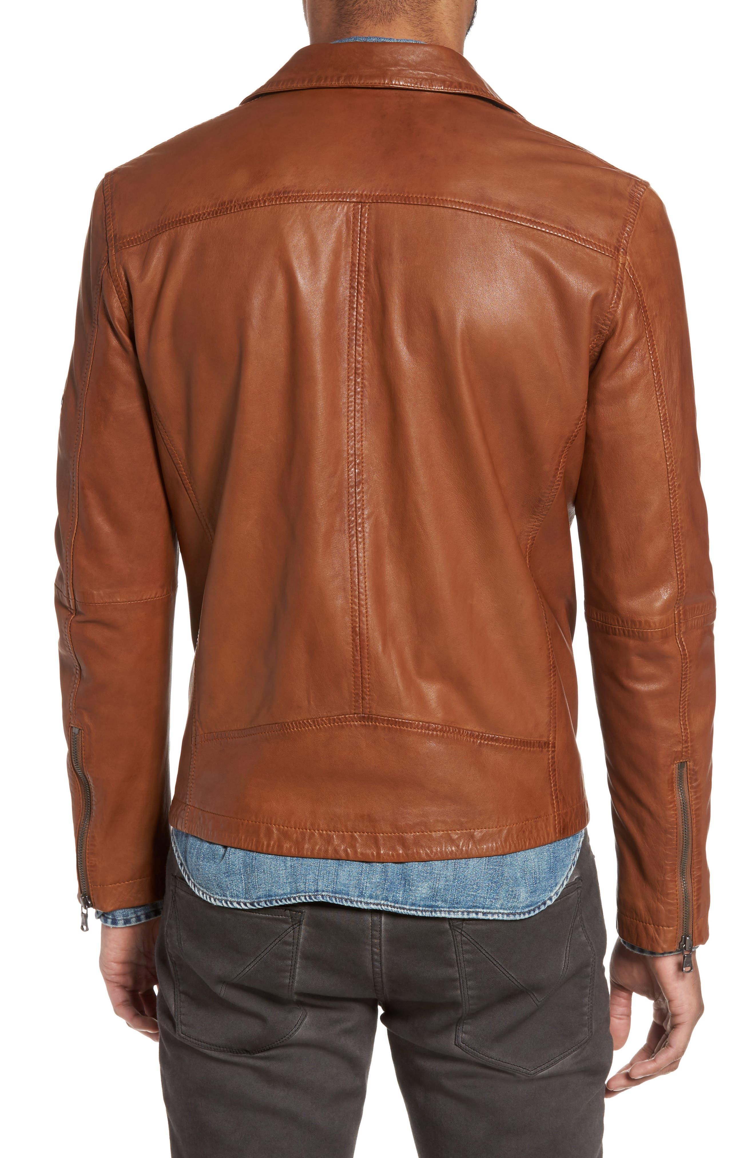 Leather Moto Jacket,                             Alternate thumbnail 2, color,                             240