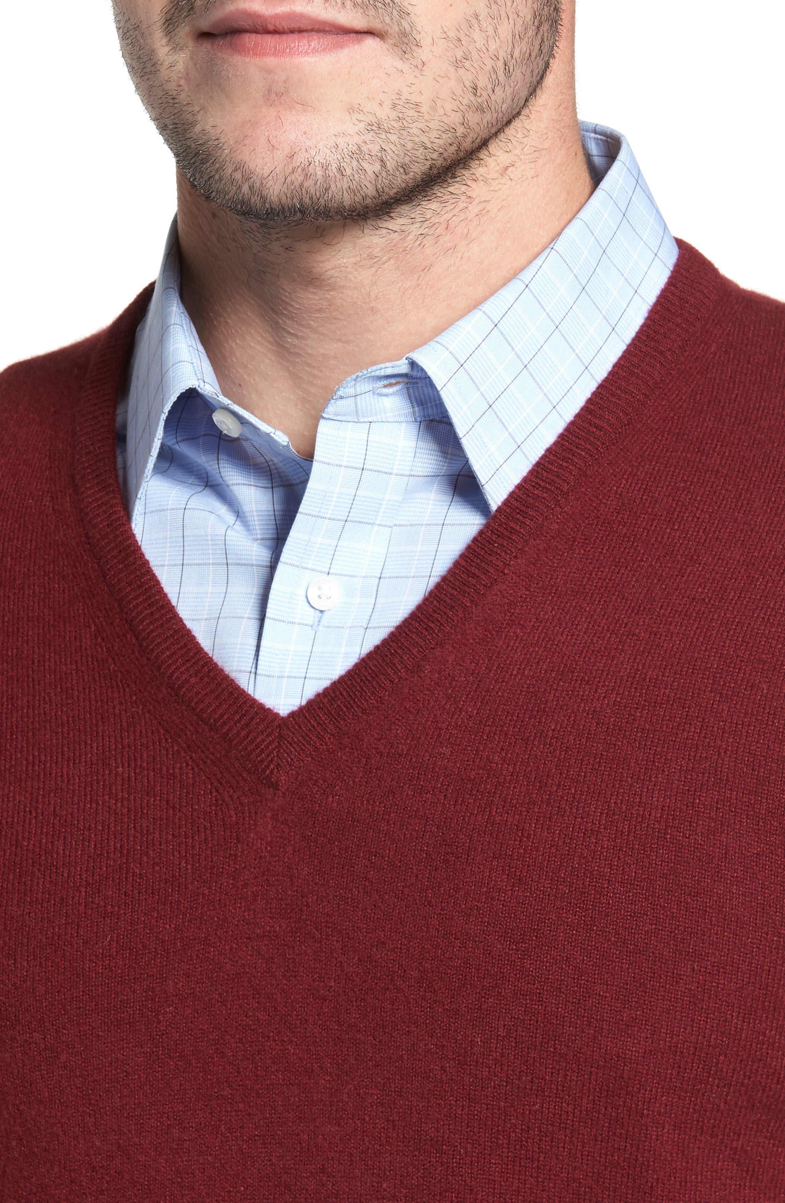 Cashmere V-Neck Sweater,                             Alternate thumbnail 24, color,