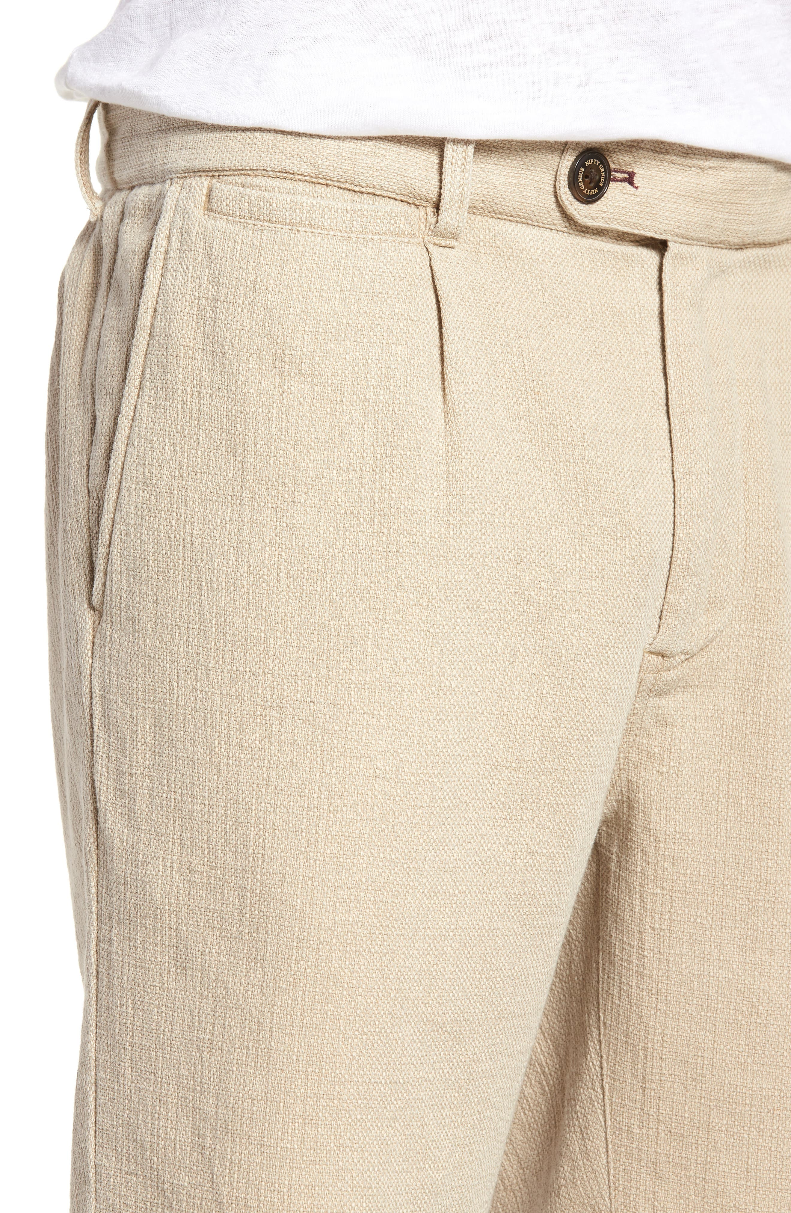 NIFTY GENIUS,                             Thomas Regular Fit Pleated Shorts,                             Alternate thumbnail 4, color,                             250