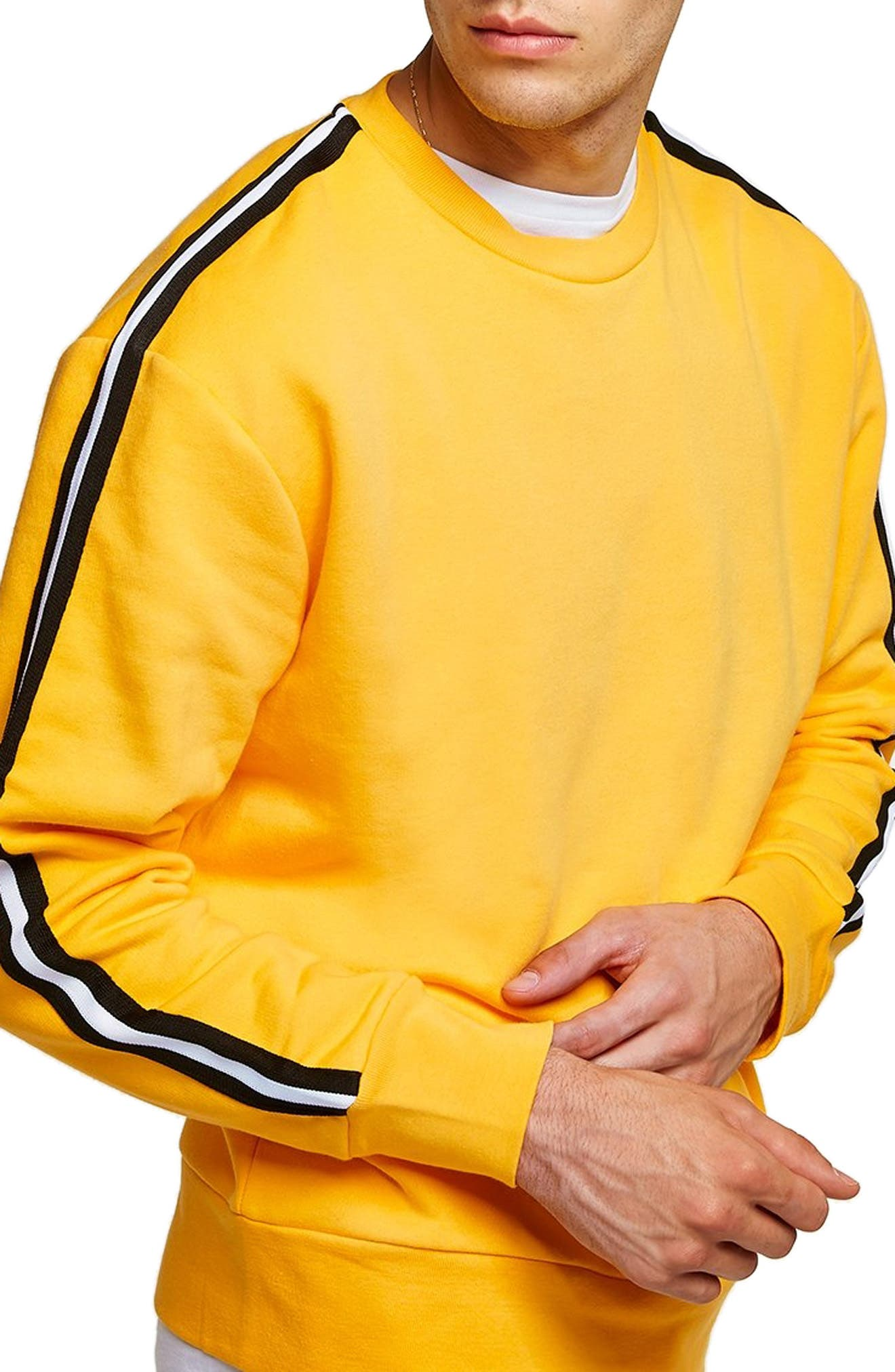 Taped Classic Fit Sweatshirt,                             Alternate thumbnail 3, color,                             700