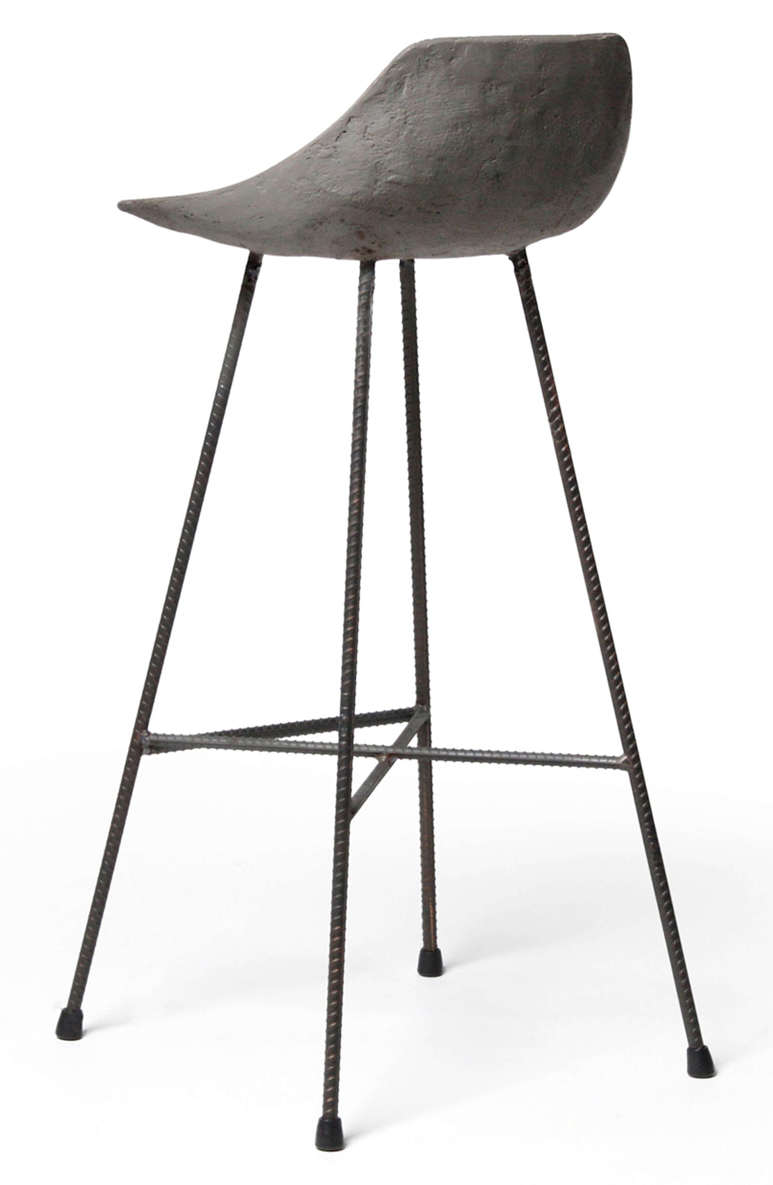 Lyon Béton Hauteville Bar Chair,                             Alternate thumbnail 4, color,                             CEMENT