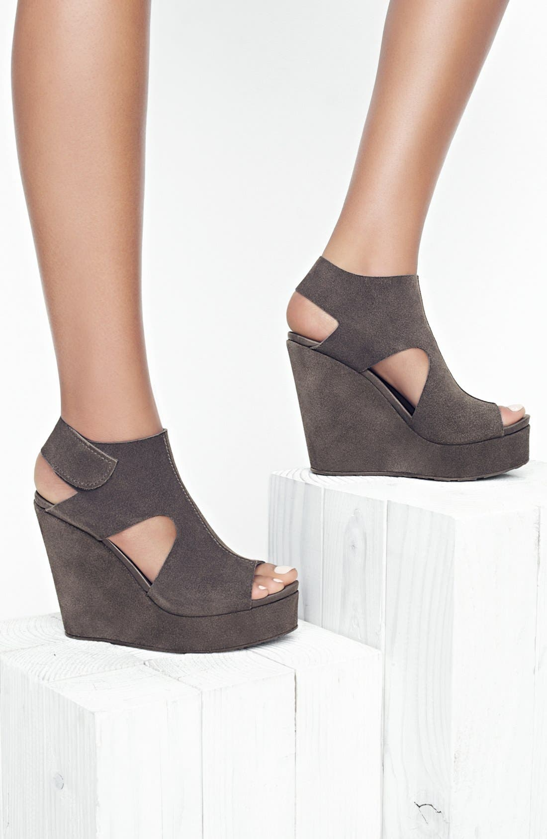 'Terence' Platform Wedge Sandal,                             Alternate thumbnail 5, color,                             020