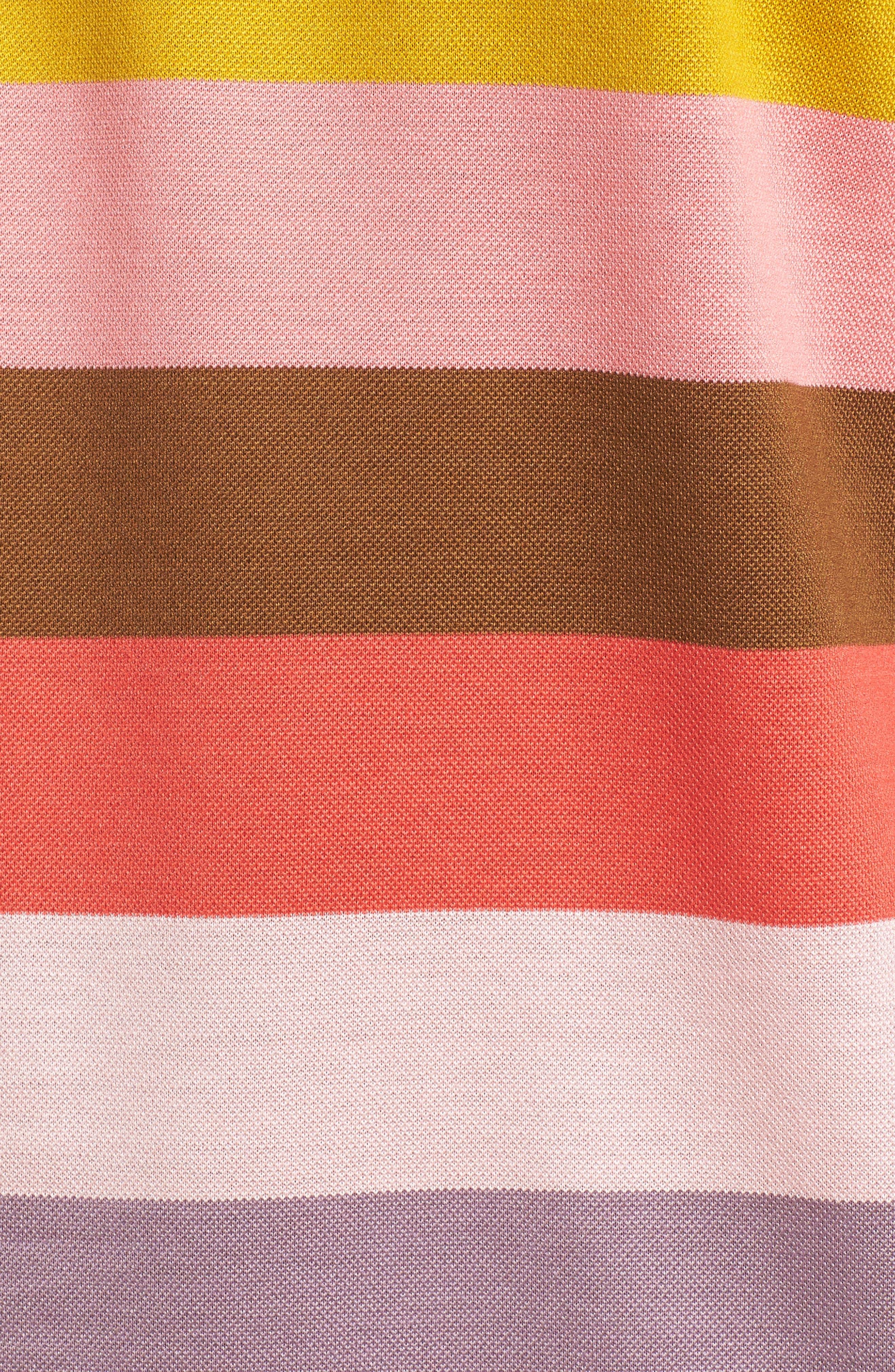 Multi Stripe Piqué Polo,                             Alternate thumbnail 5, color,                             400