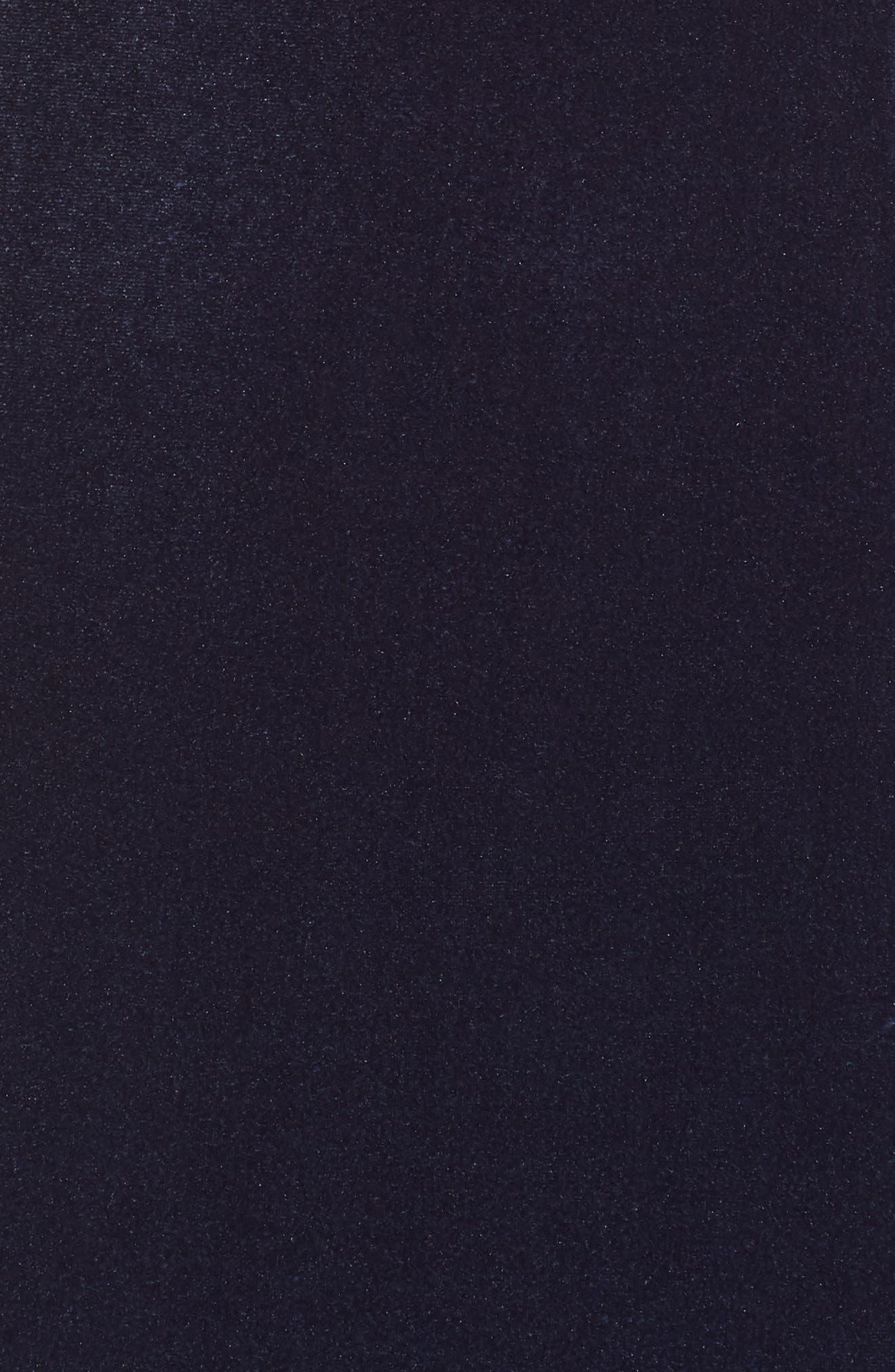 Scoop Neck Flutter Sleeve Velvet Sheath Dress,                             Alternate thumbnail 6, color,                             BLUE STEEL