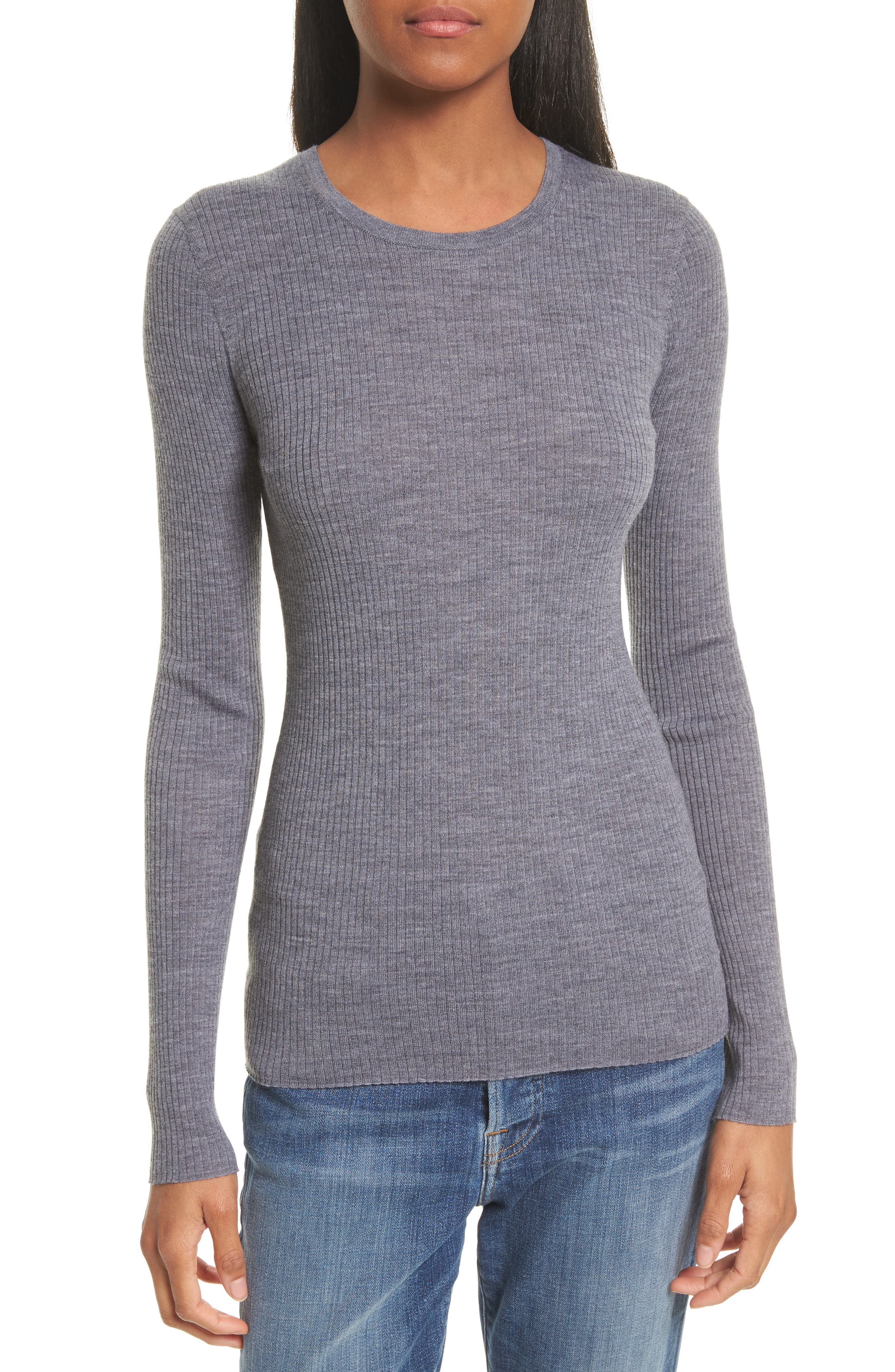 Mirzi B Merino Wool Sweater, Main, color, 059