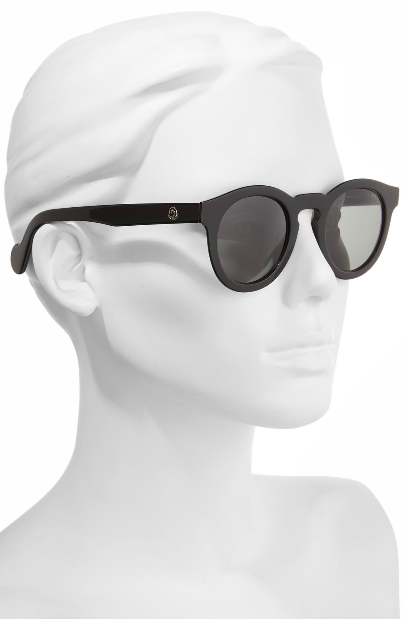 MONCLER,                             49mm Keyhole Sunglasses,                             Alternate thumbnail 2, color,                             001