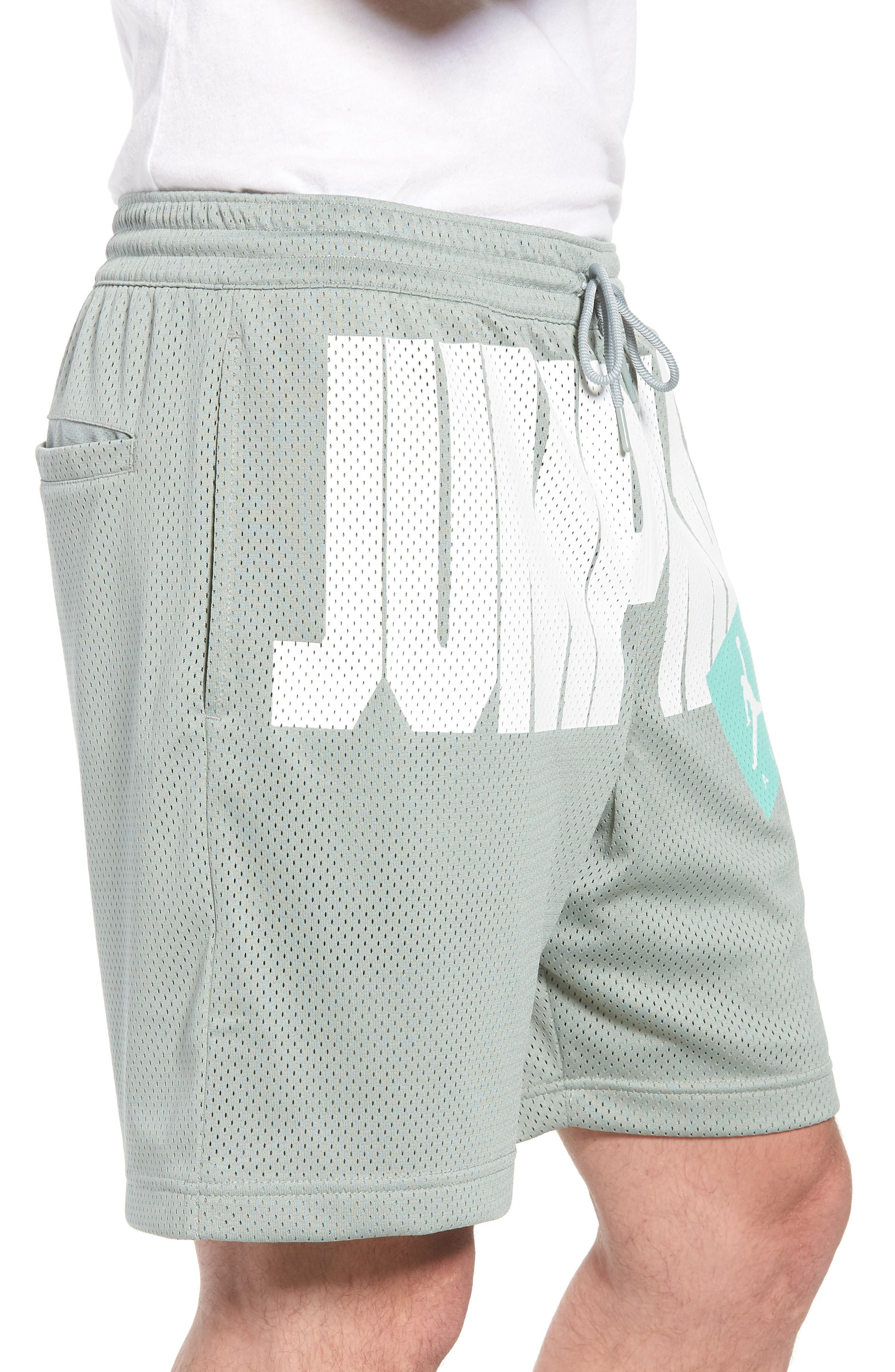 Nike Jumpman Air Mesh Shorts,                             Alternate thumbnail 3, color,                             MICA GREEN
