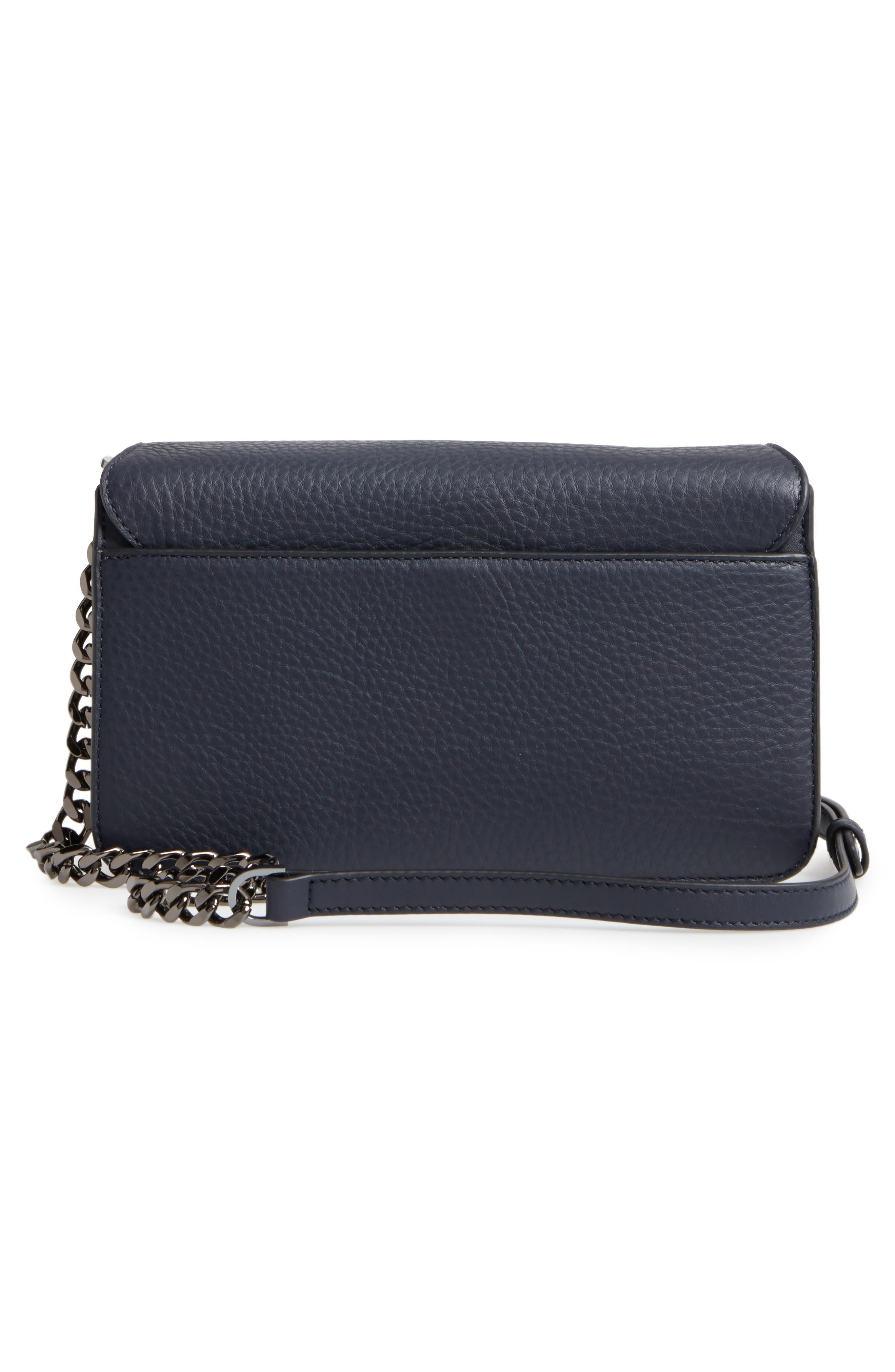 Cortney Nappa Leather Shoulder/Crossbody Bag,                             Alternate thumbnail 12, color,