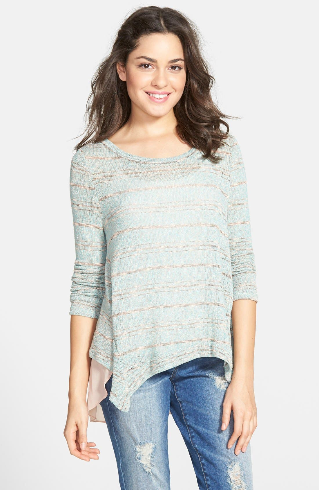 Hacci Stripe Sweater,                             Main thumbnail 1, color,                             440