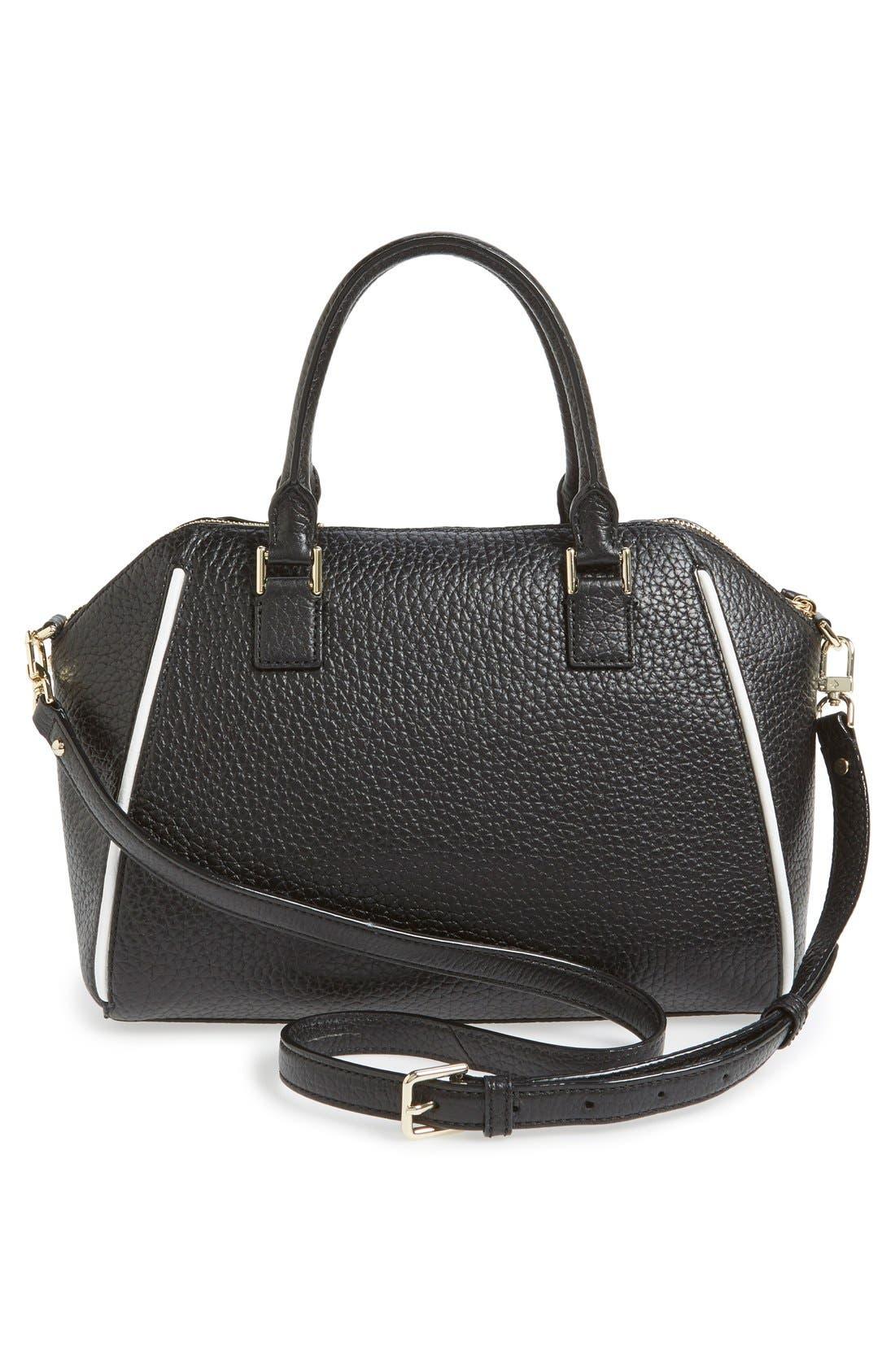 'prospect place - pippa' leather satchel,                             Alternate thumbnail 6, color,                             001