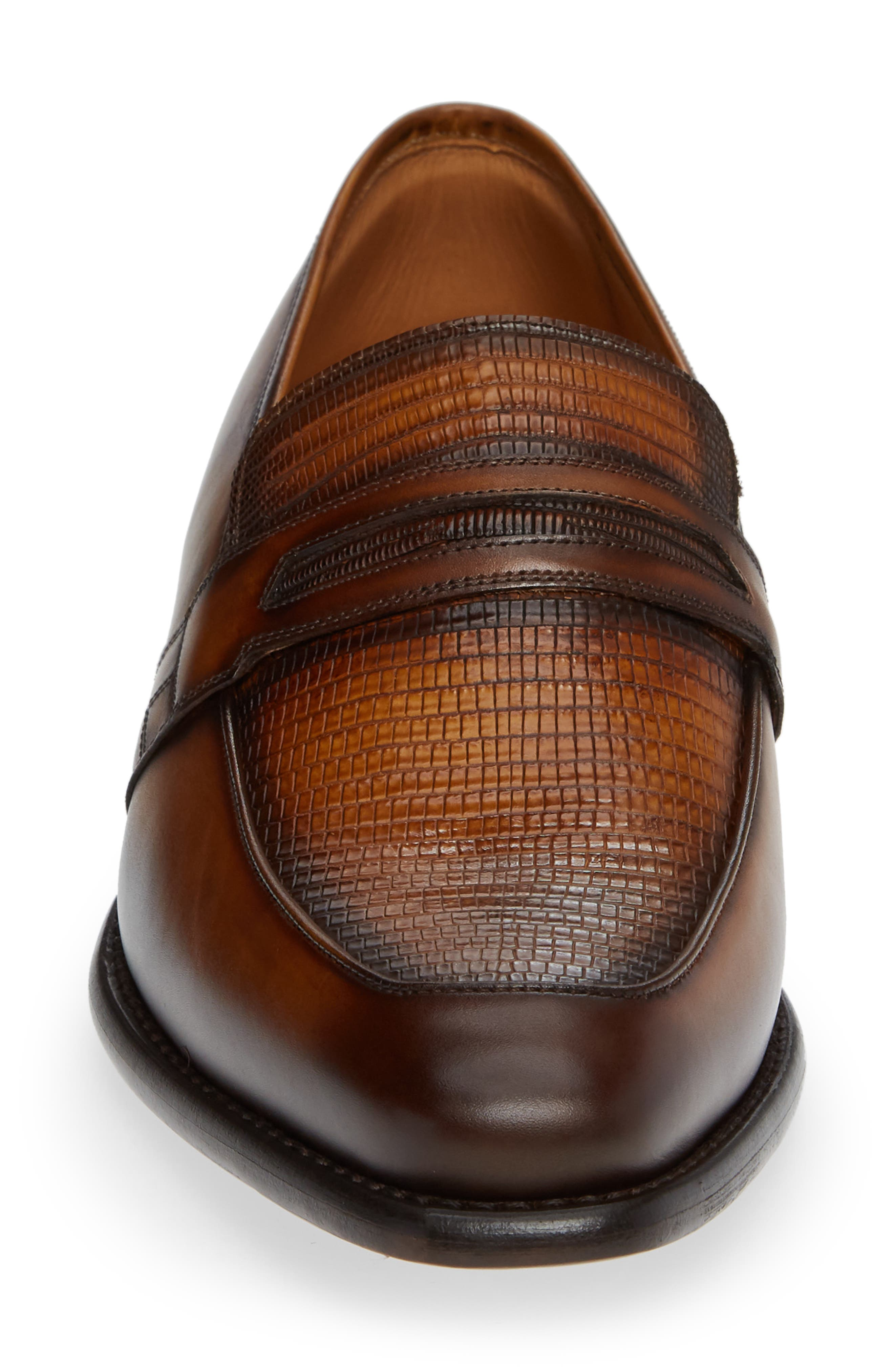 Hess Penny Loafer,                             Alternate thumbnail 4, color,                             HONEY LEATHER