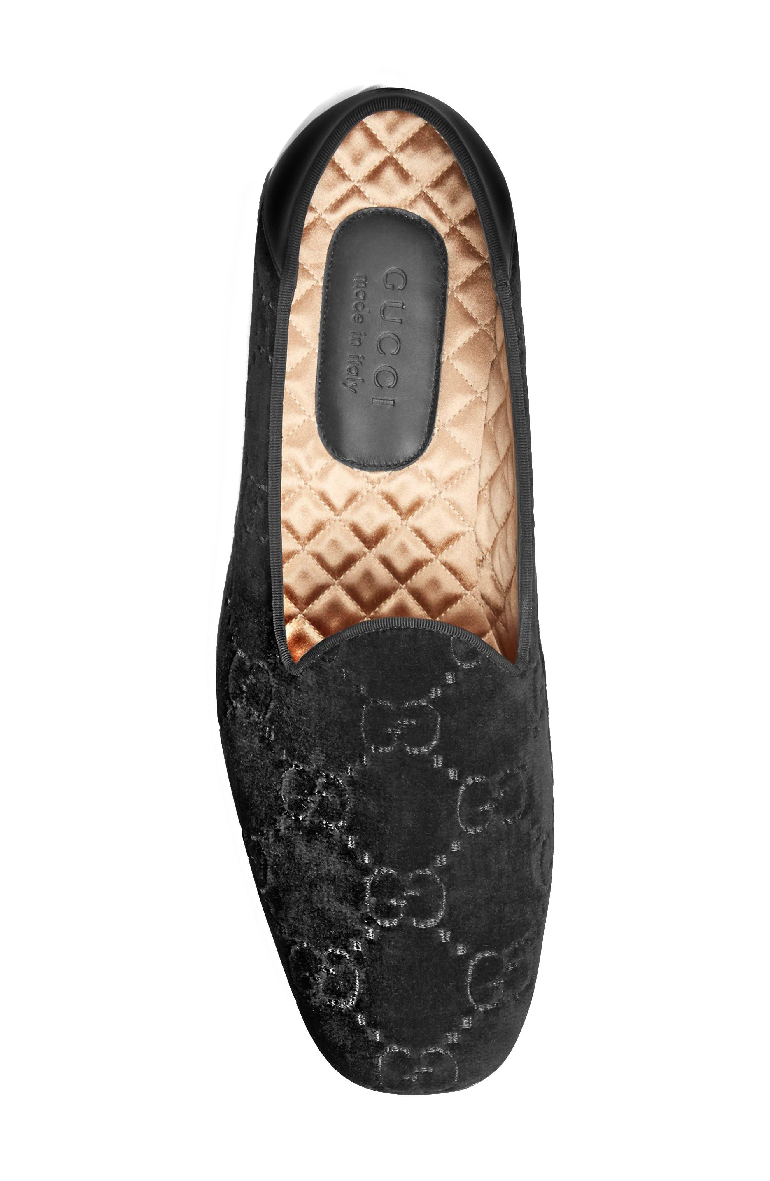 Gucci Grosgrain-Trimmed Velvet Loafers - Black Size 9 M