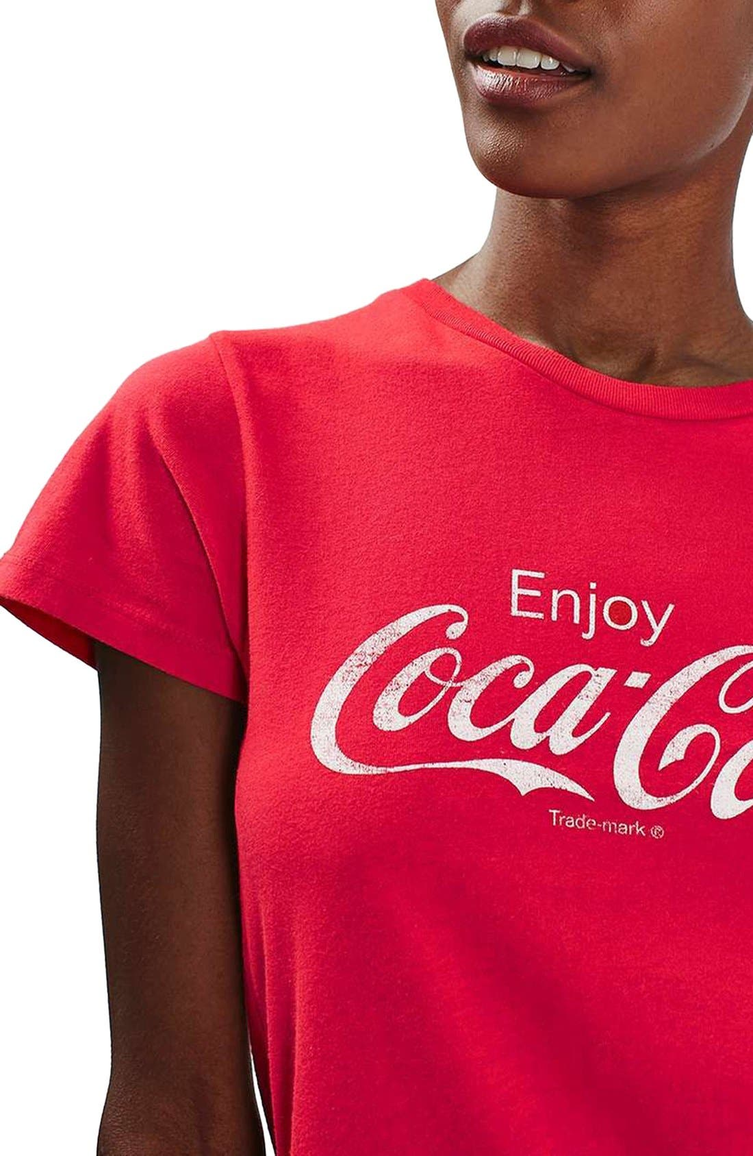 'Coca Cola' Graphic Tee,                             Alternate thumbnail 3, color,                             600