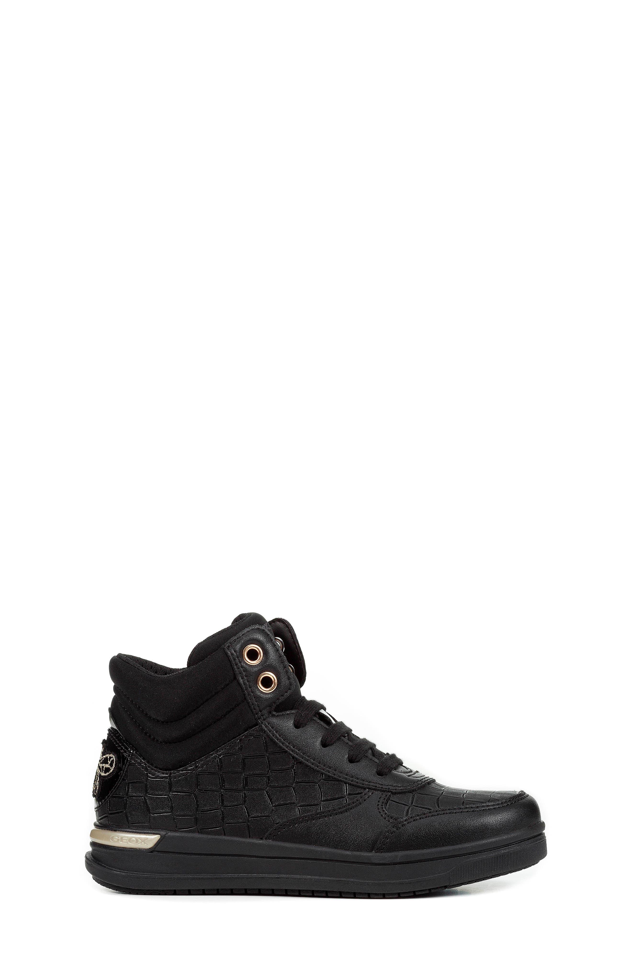 Aveup High Top Sneaker,                             Alternate thumbnail 3, color,                             BLACK