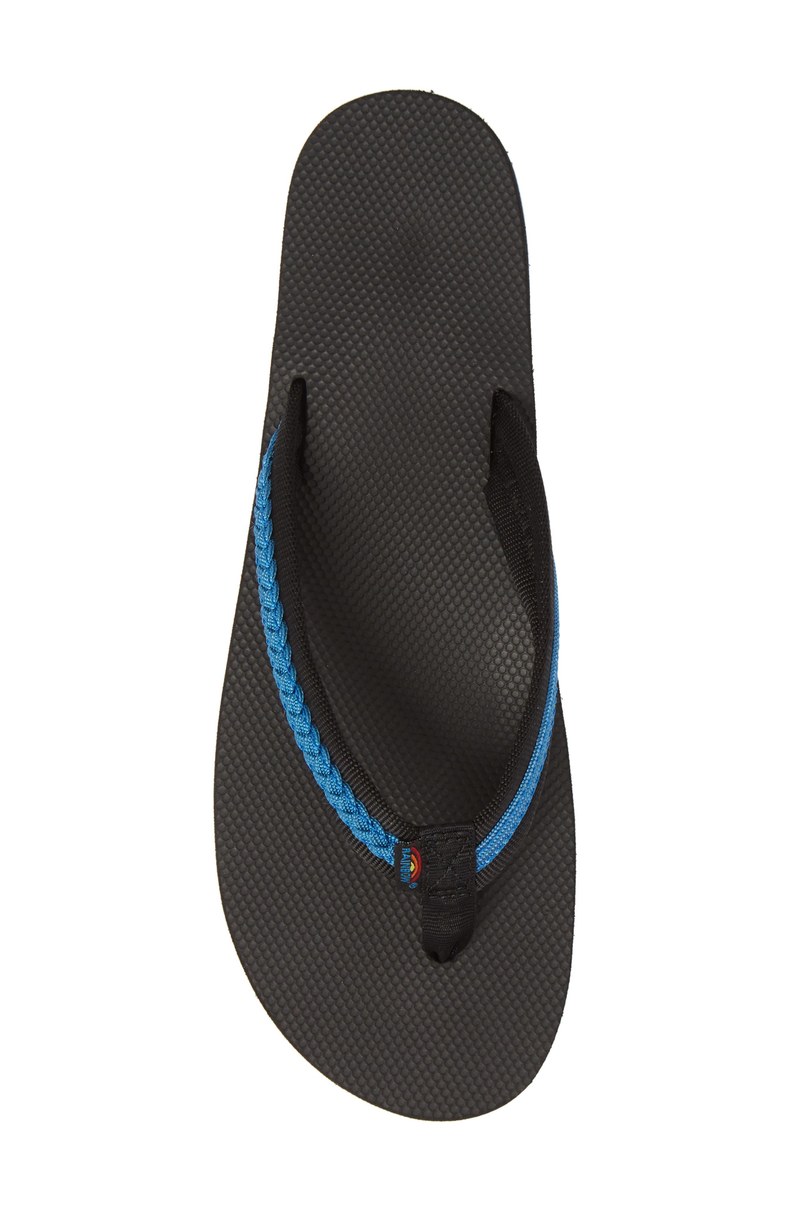Braided Flip Flop,                             Alternate thumbnail 5, color,                             BLACK