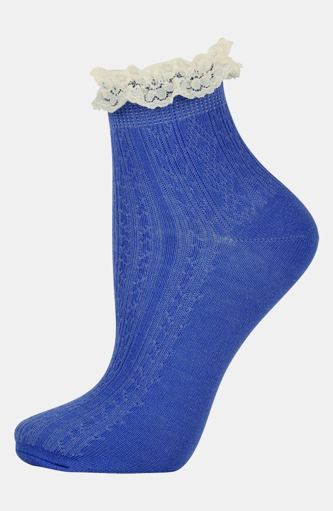 Lace Trim Ankle Socks,                             Main thumbnail 11, color,