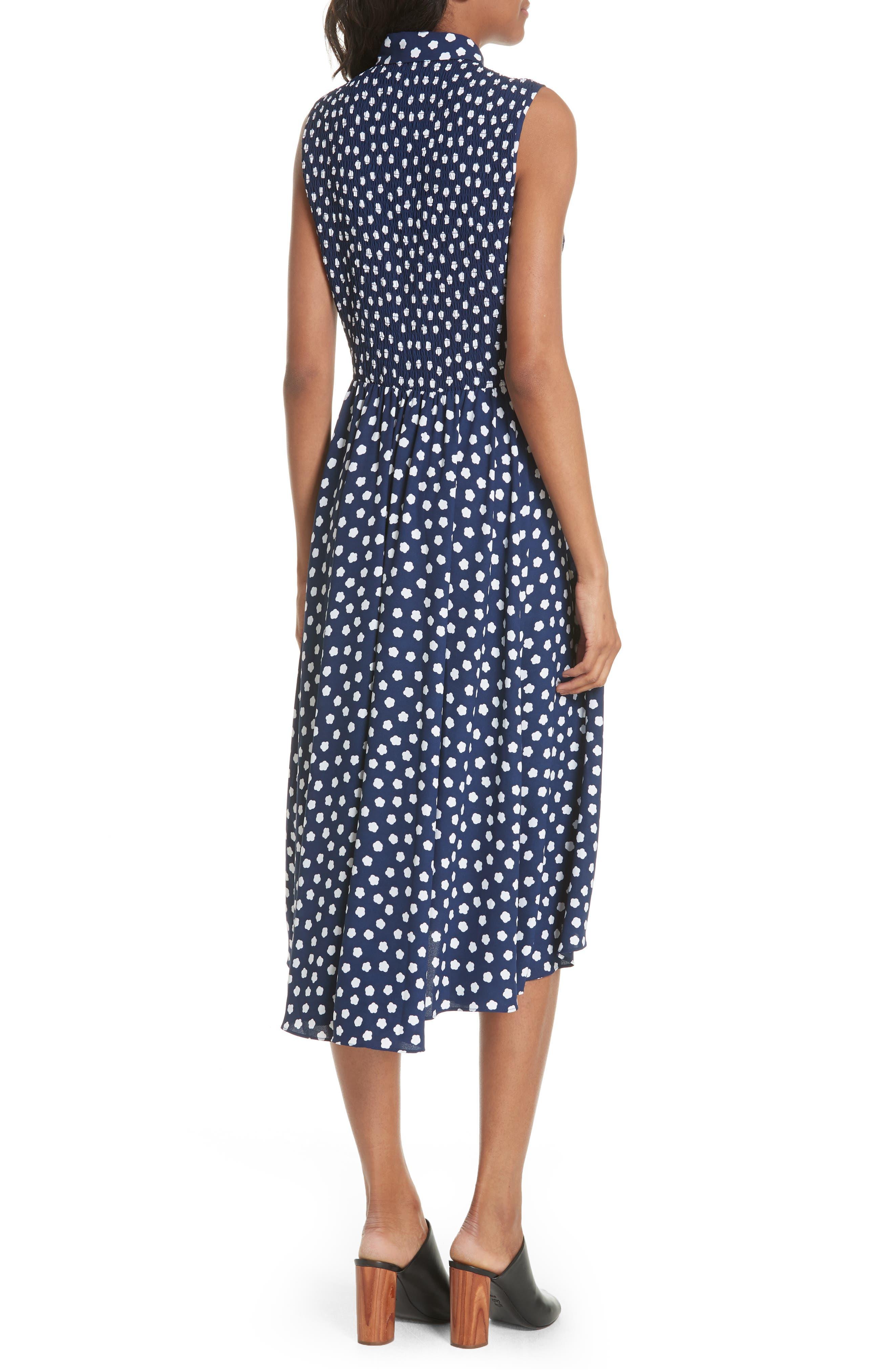 cloud dot midi dress,                             Alternate thumbnail 2, color,