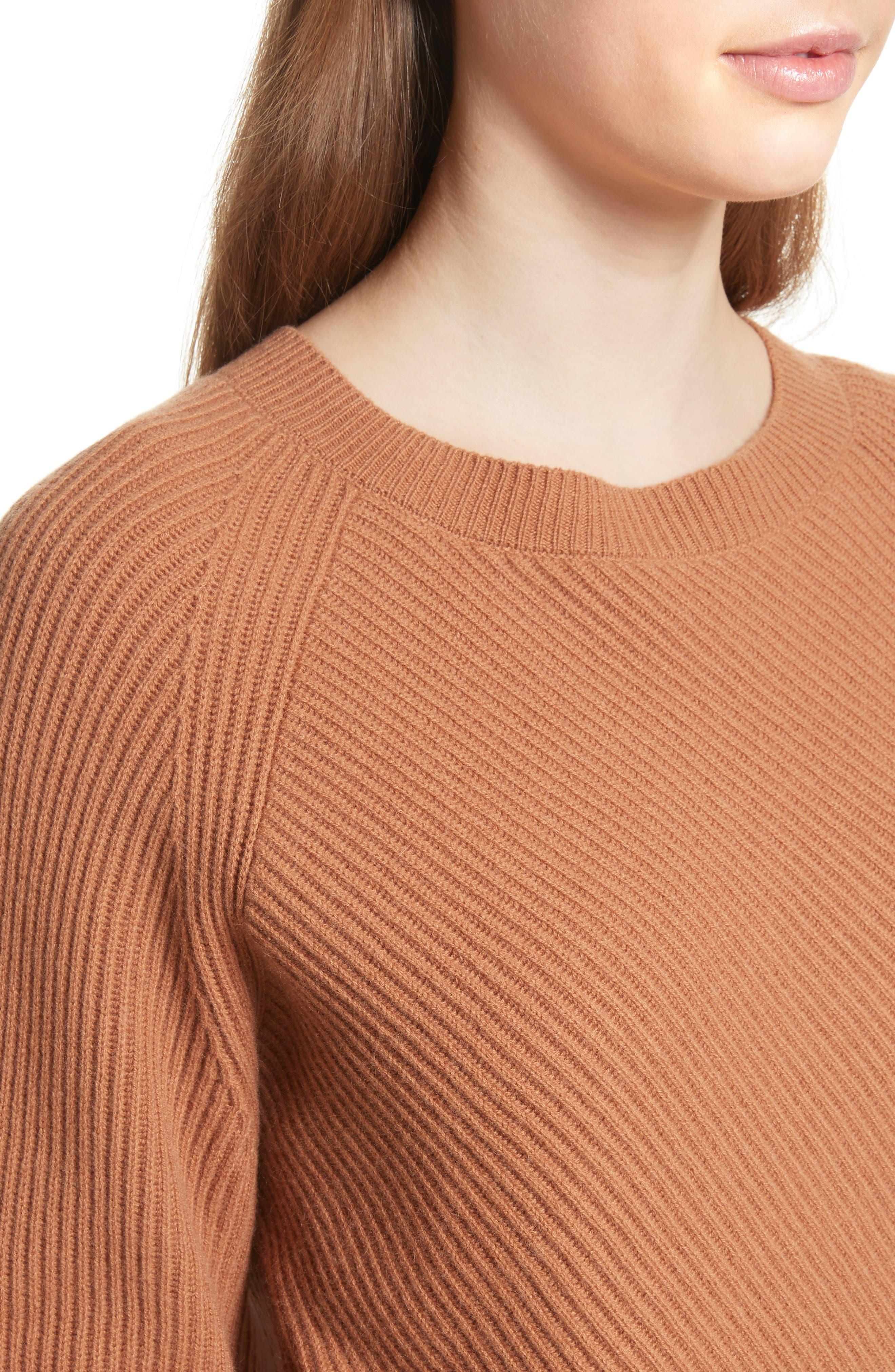 Diagonal Rib Wool & Cashmere Sweater,                             Alternate thumbnail 12, color,