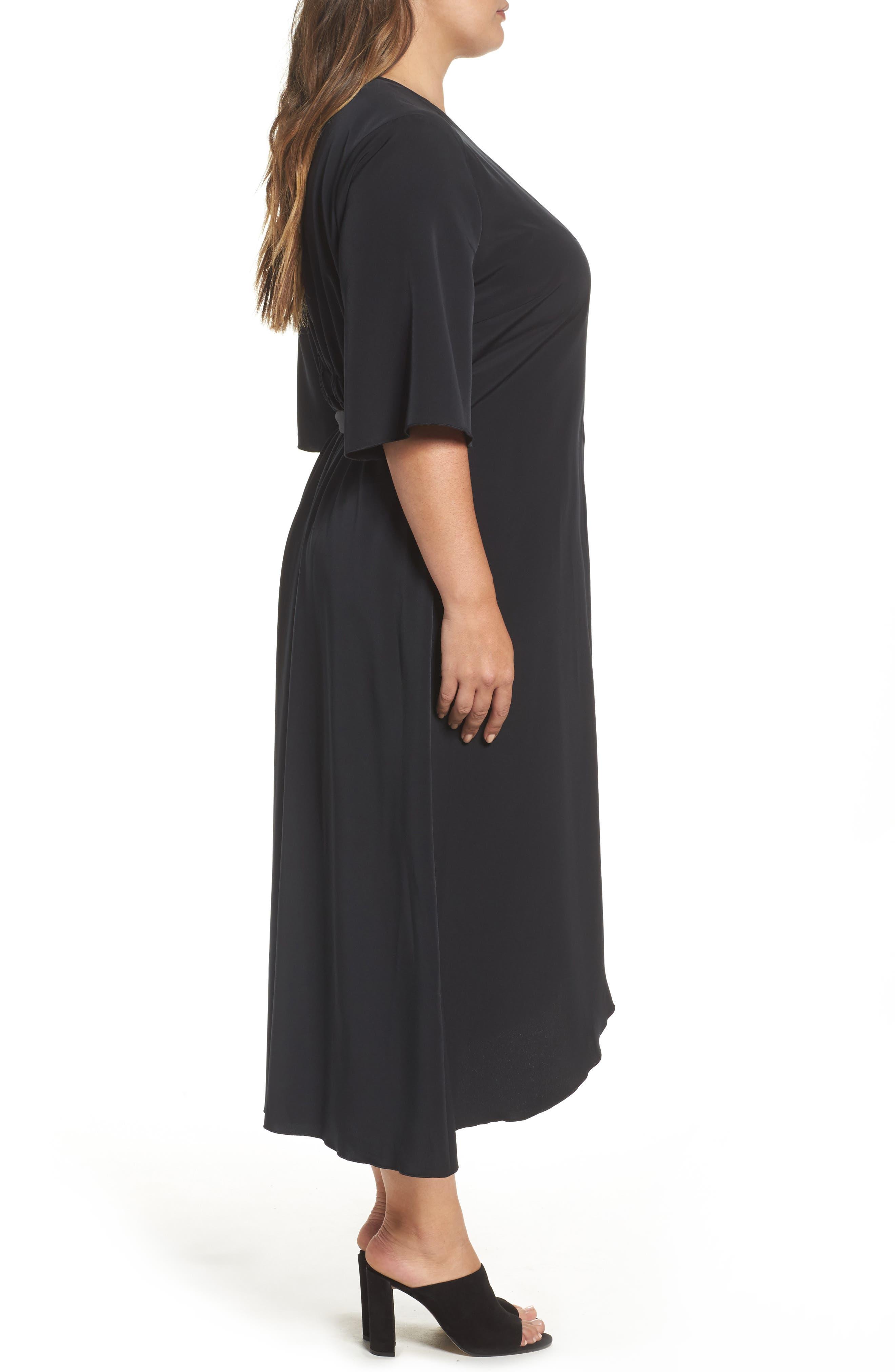 Wrap Dress,                             Alternate thumbnail 3, color,                             001