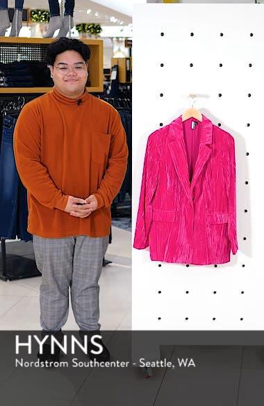 Crinkle Velvet Jacket, sales video thumbnail