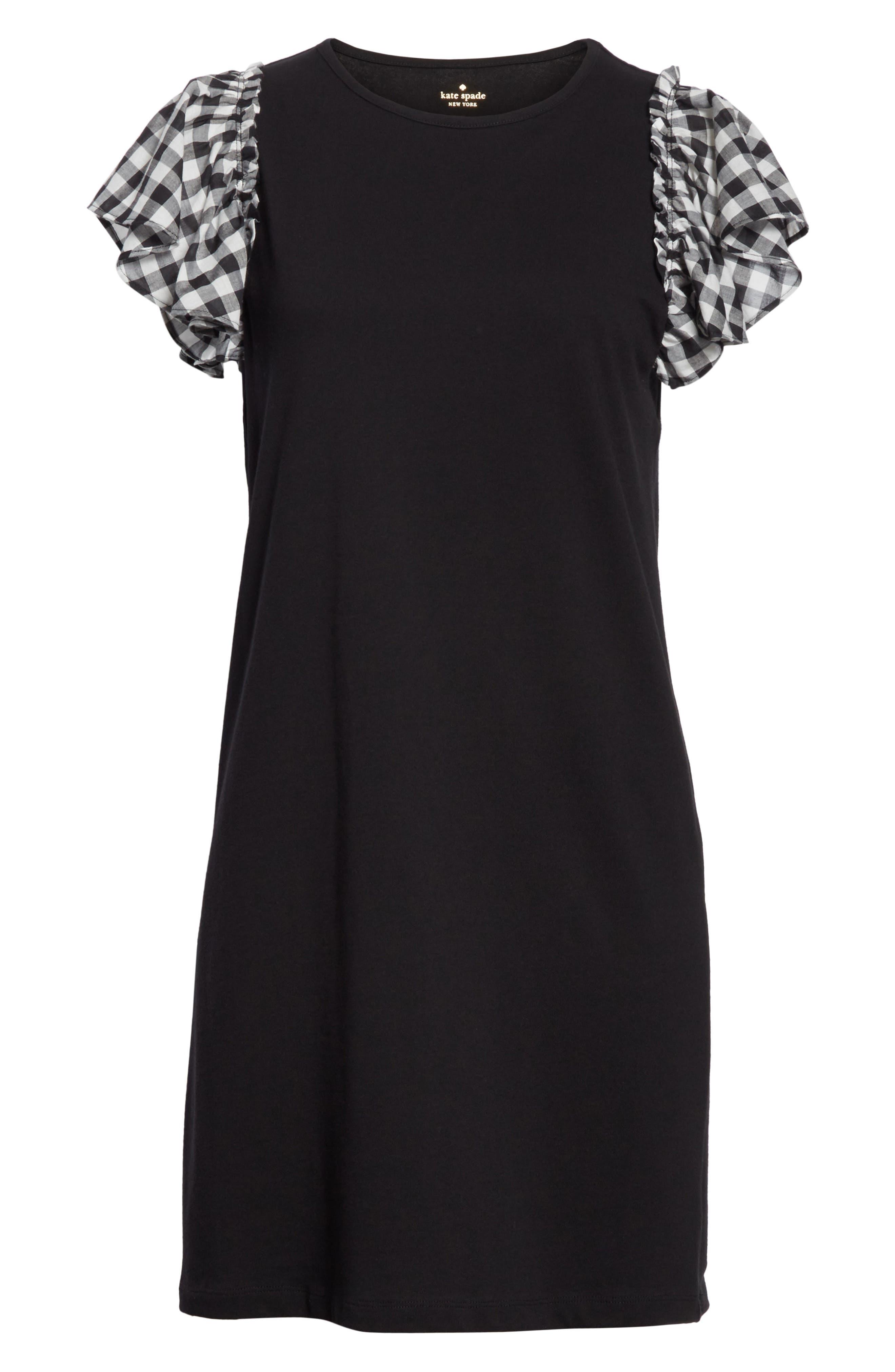 check sleeve dress,                             Alternate thumbnail 6, color,