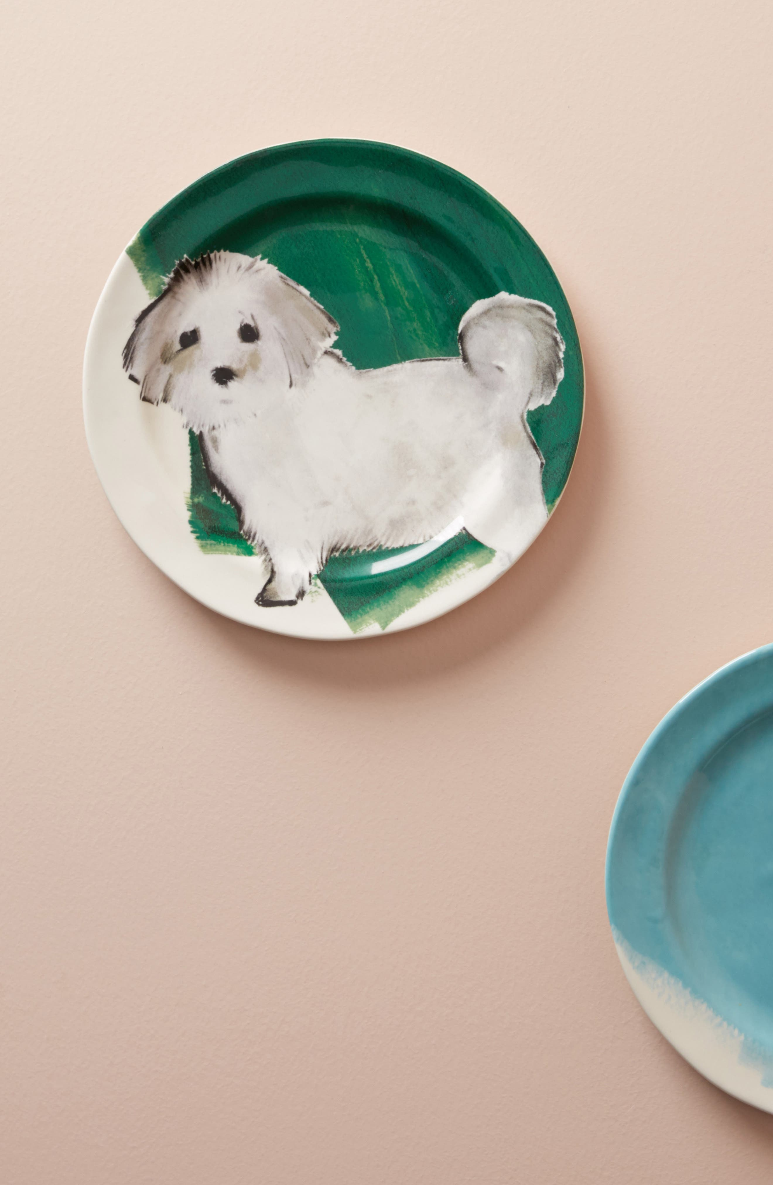 Dog-a-Day Stoneware Dessert Plate,                             Main thumbnail 1, color,                             300