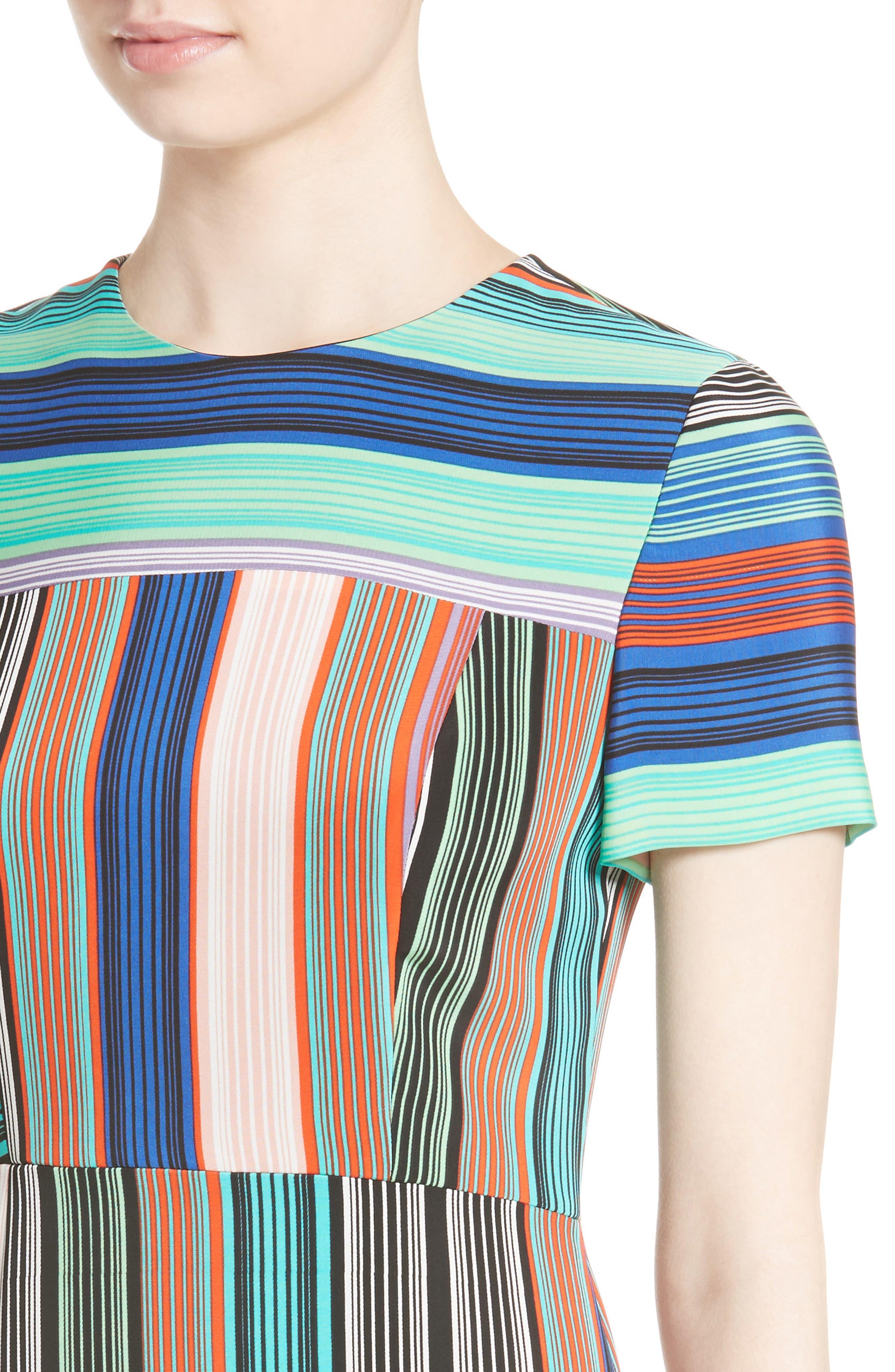Stripe Tailored Dress,                             Alternate thumbnail 4, color,                             361