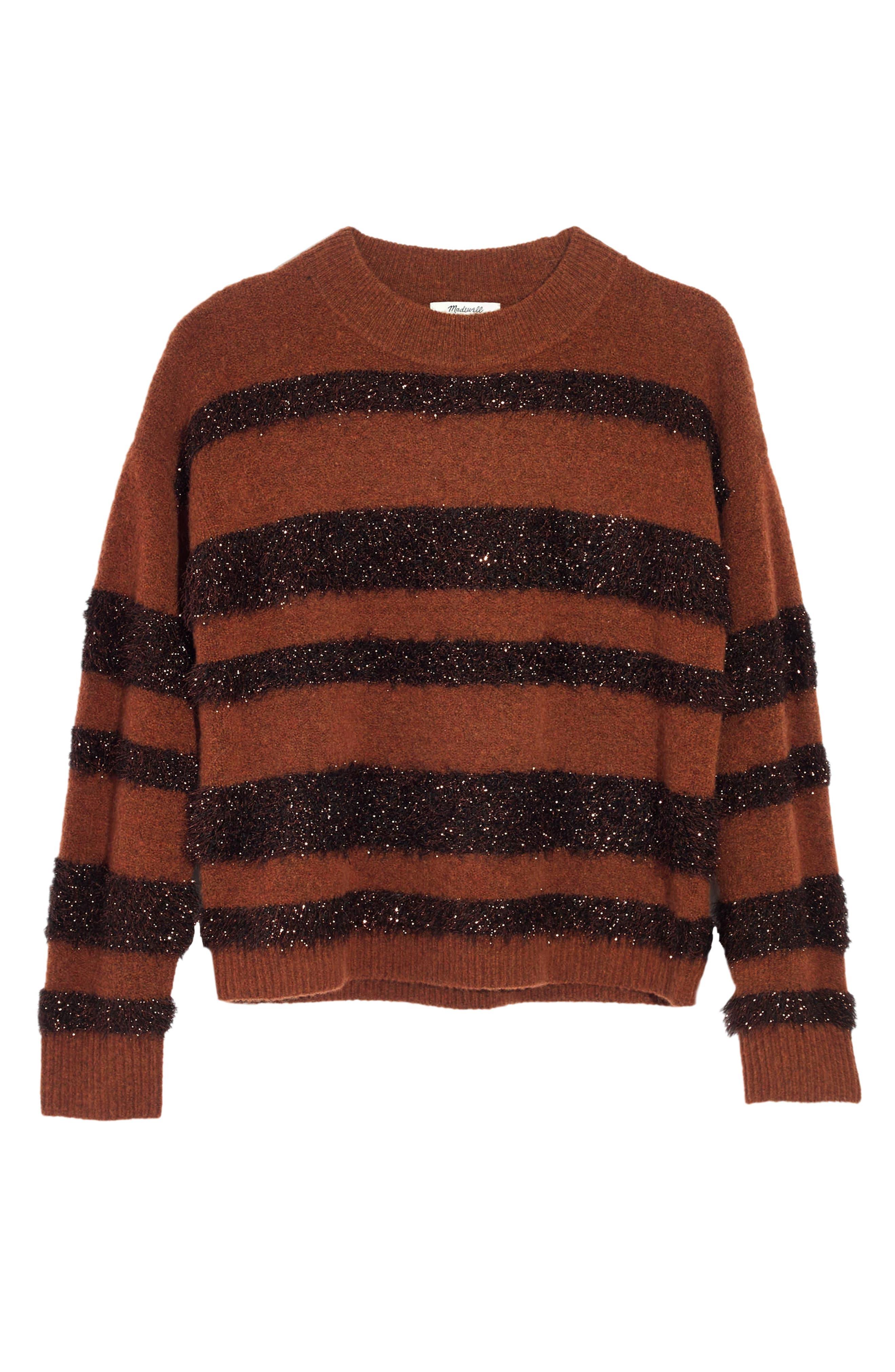 Tinsel Stripe Sweater,                             Alternate thumbnail 3, color,                             200