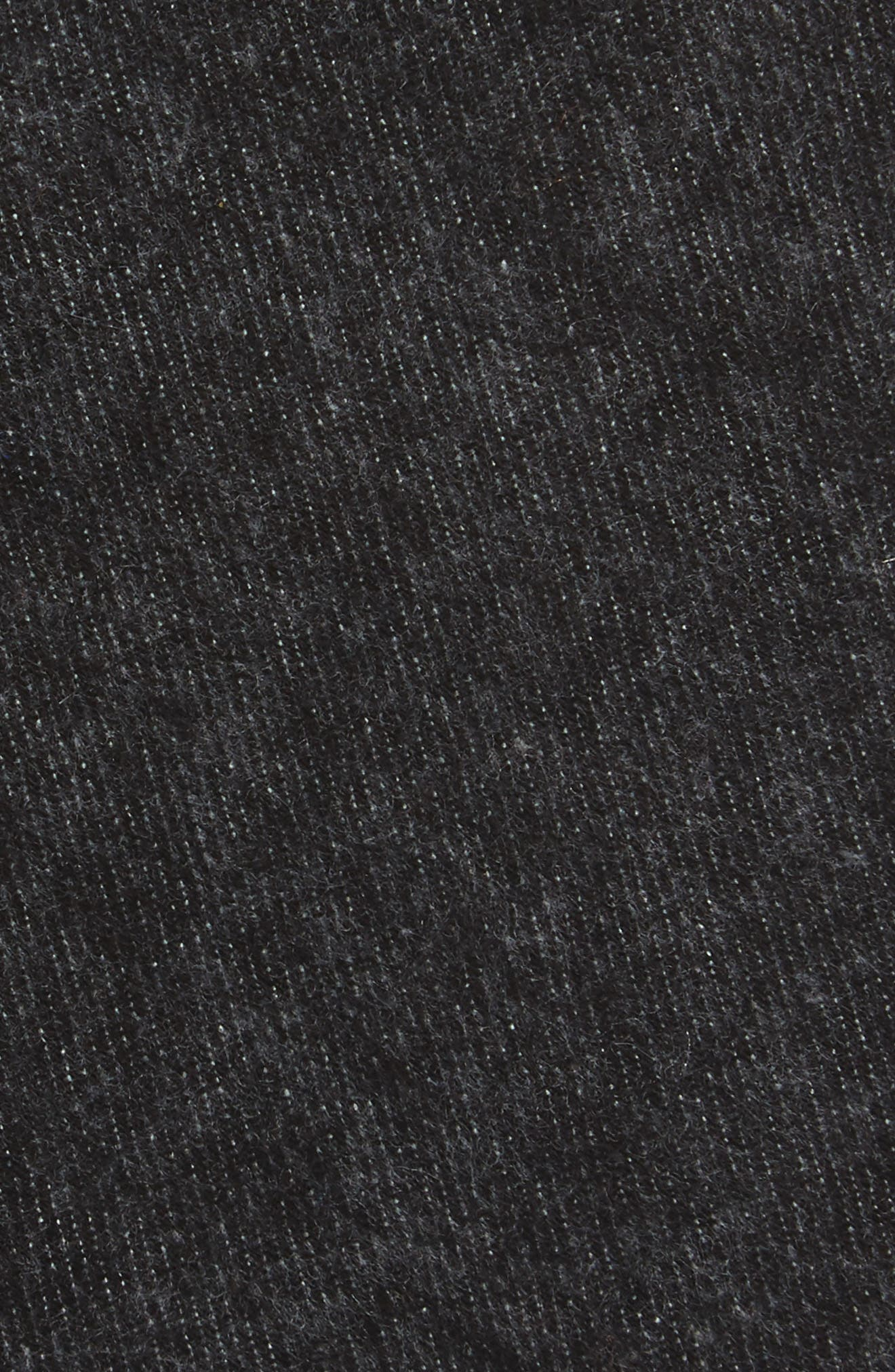 Bowery Solid Cotton Blend Skinny Tie,                             Alternate thumbnail 2, color,                             001