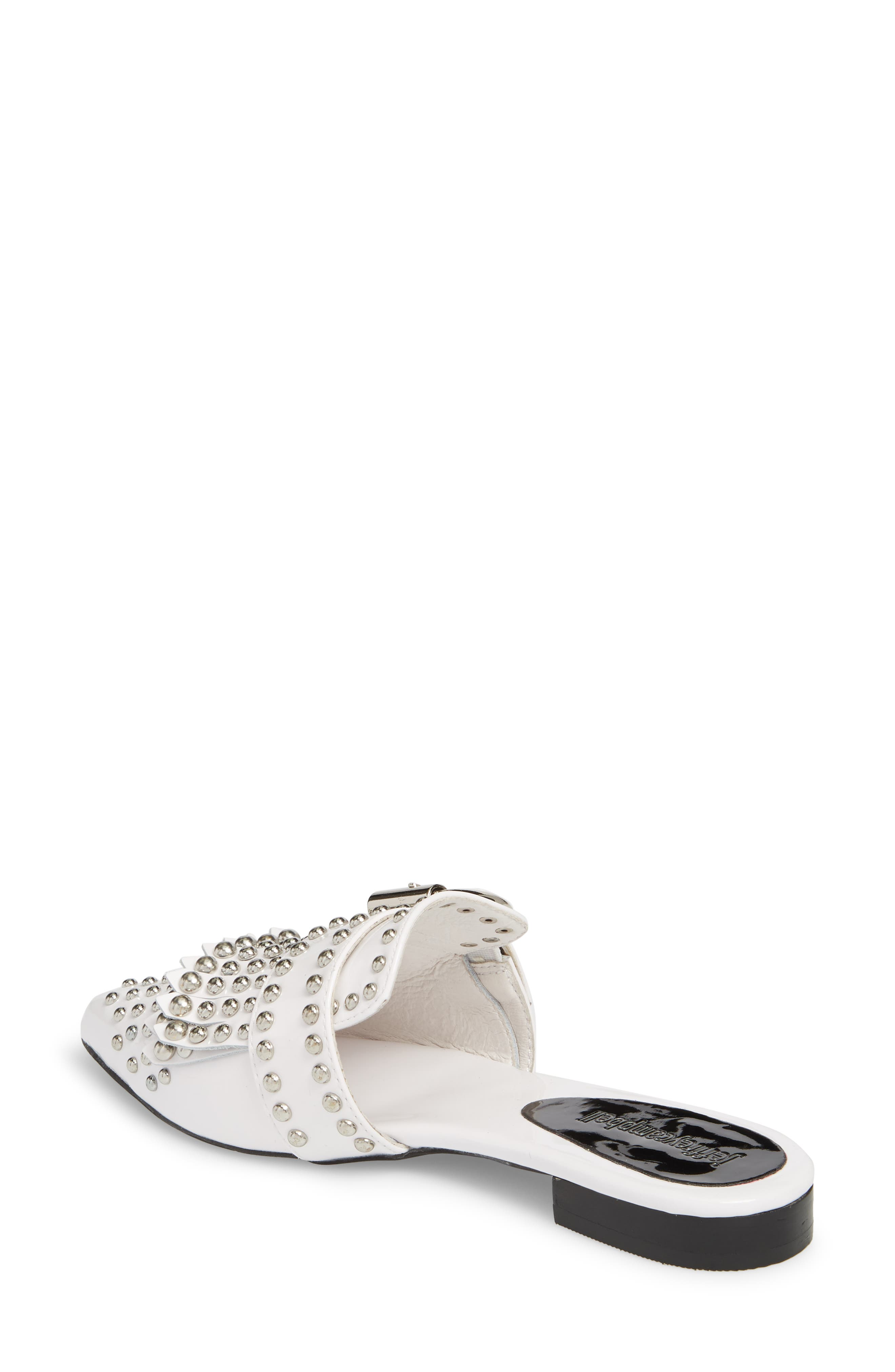 Daniel Studded Loafer Mule,                             Alternate thumbnail 2, color,                             WHITE PATENT