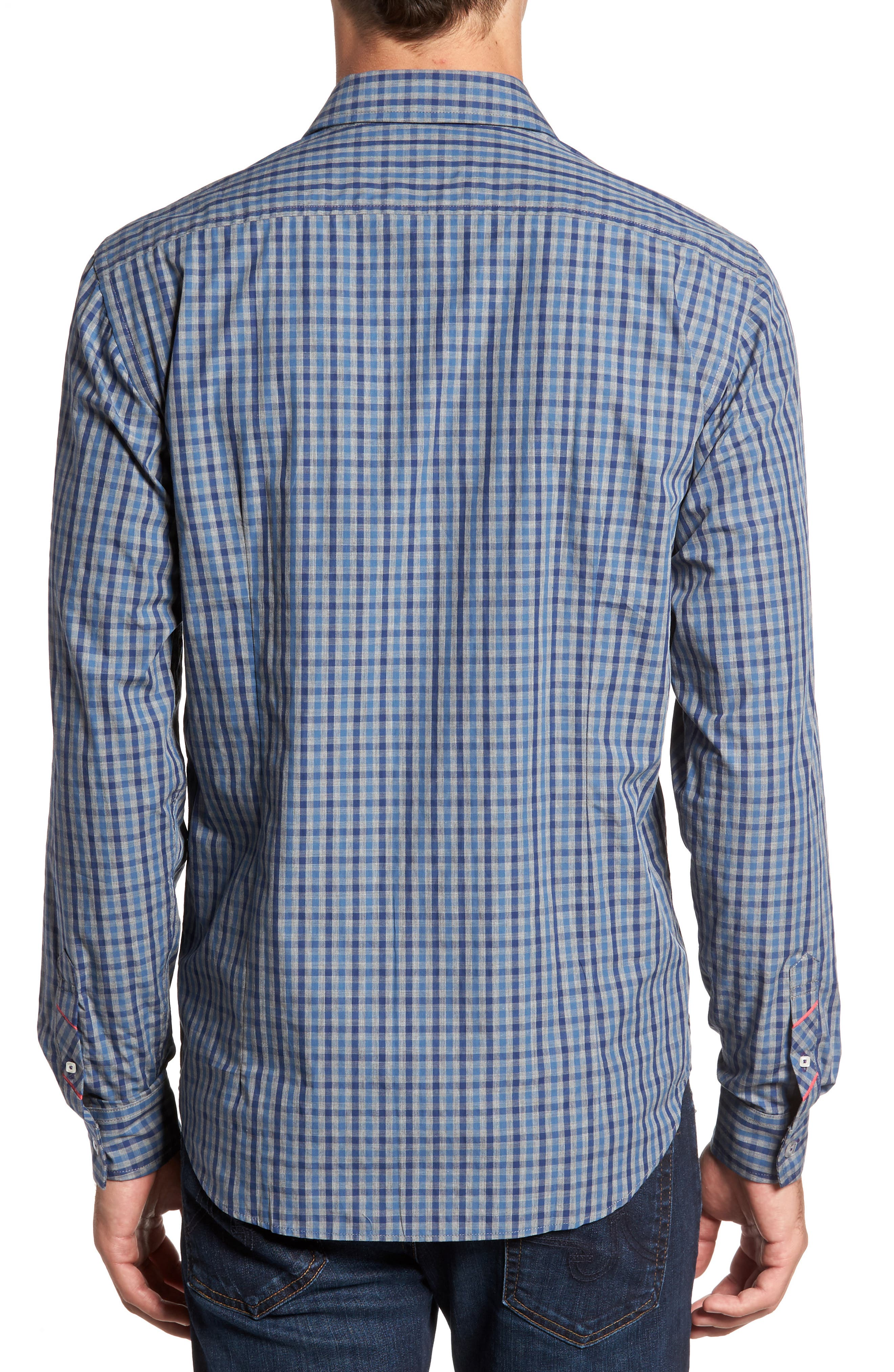 Slim Fit Check Sport Shirt,                             Alternate thumbnail 2, color,                             024