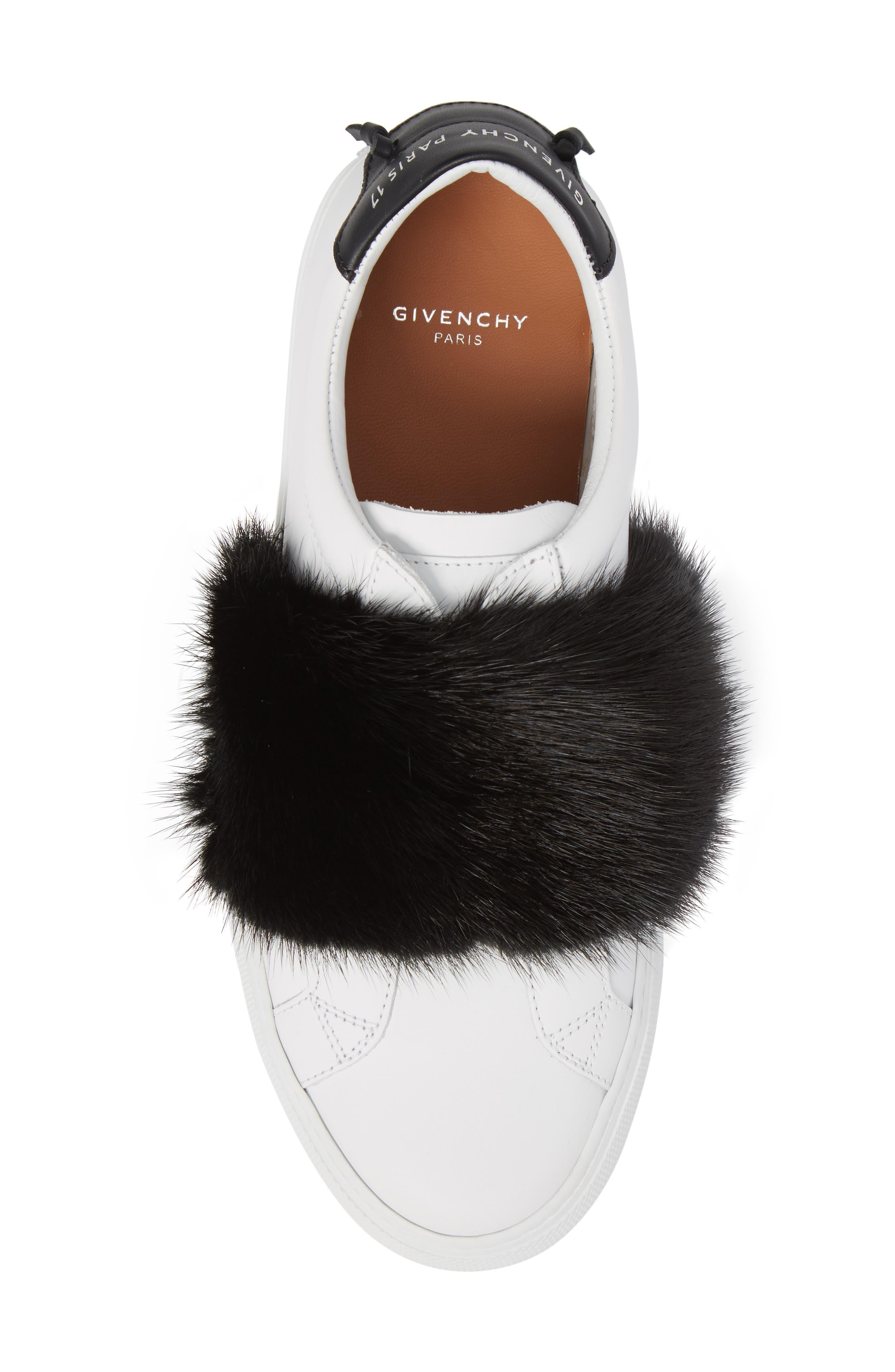 Urban Street Slip-On Sneaker with Genuine Mink Fur Trim,                             Alternate thumbnail 5, color,                             115