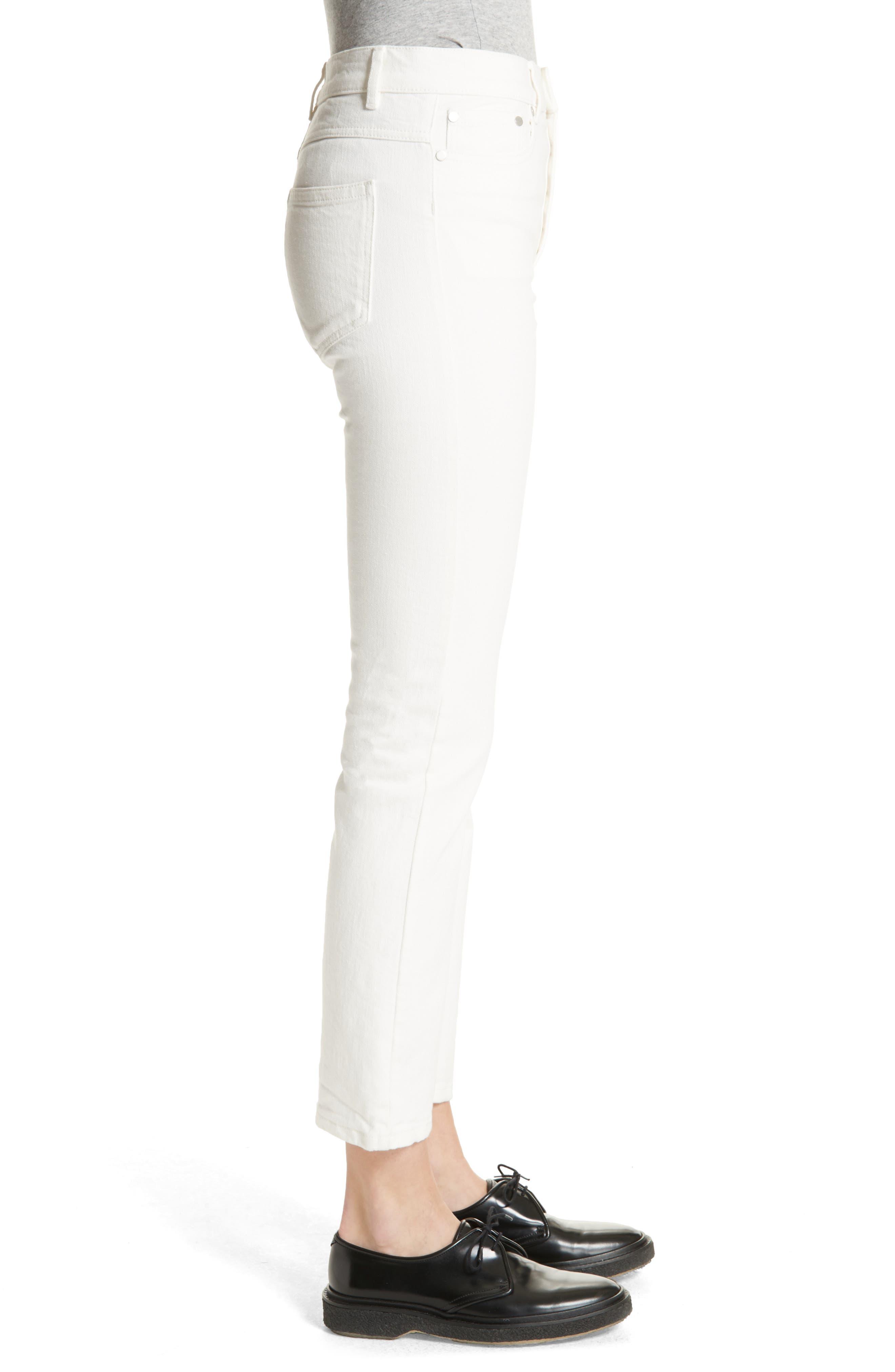 White Denim Jeans,                             Alternate thumbnail 3, color,                             100