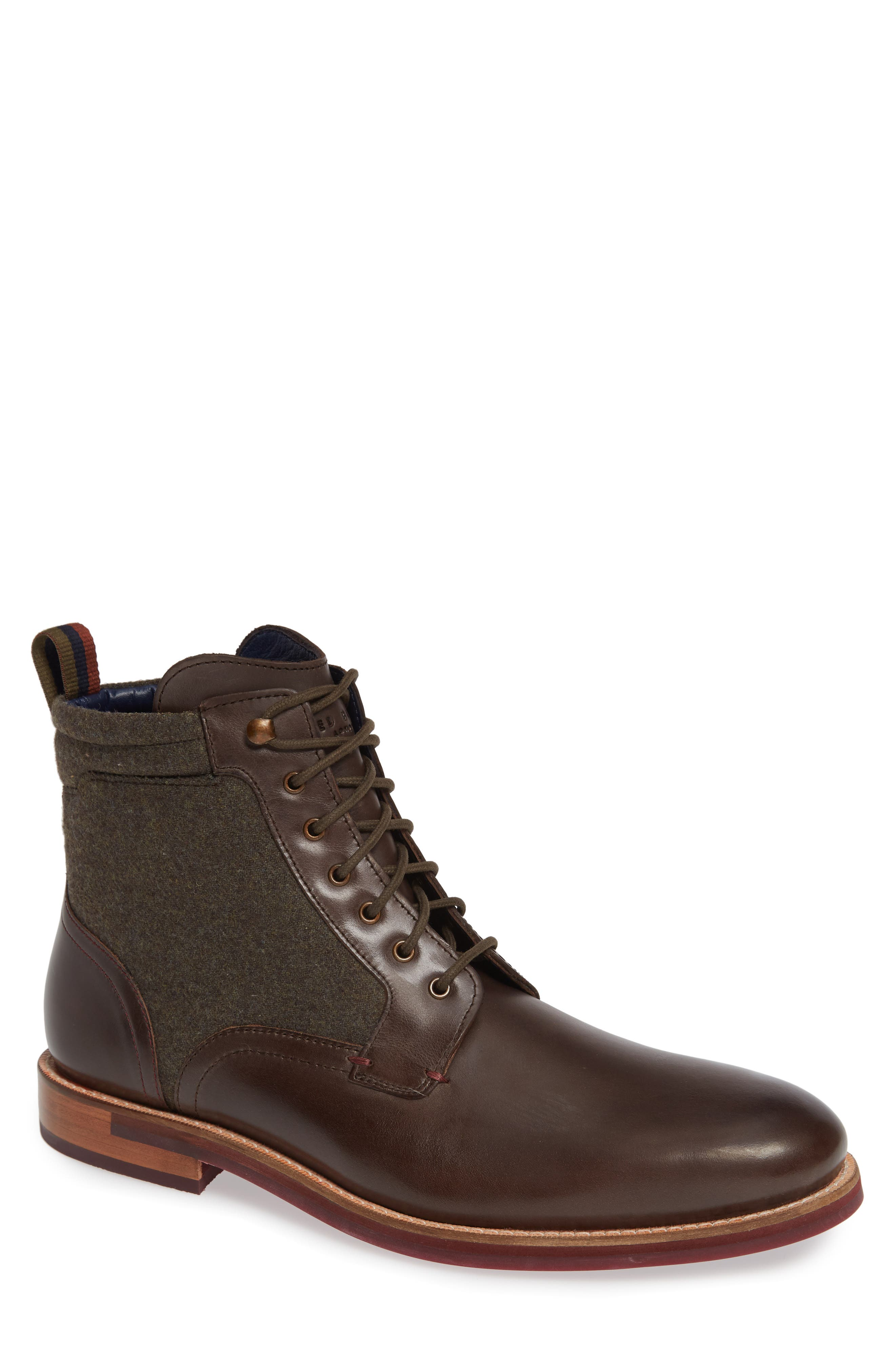 Axtoni Boot,                         Main,                         color, BROWN LEATHER