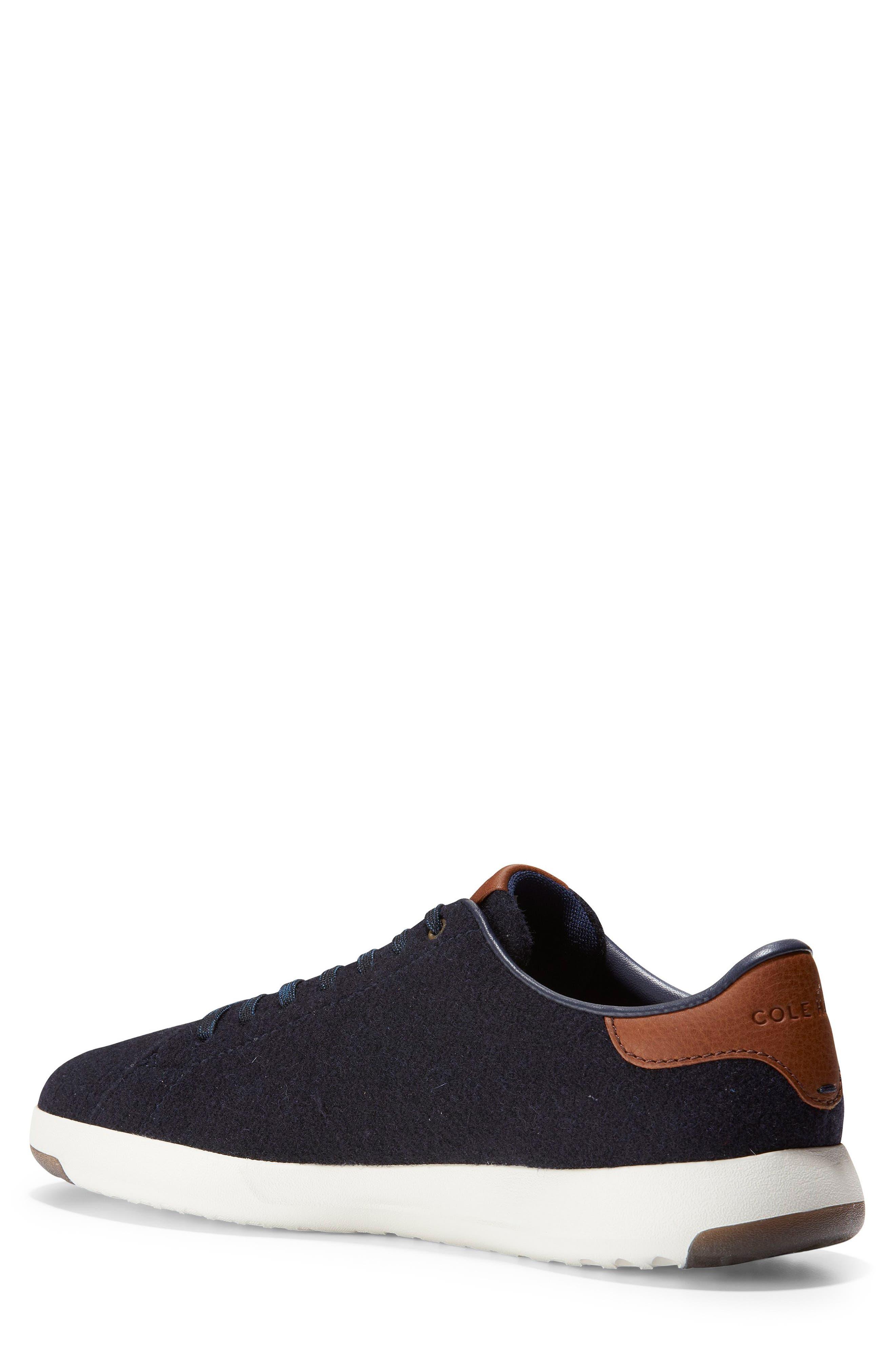 GrandPro Tennis Sneaker,                             Alternate thumbnail 2, color,                             NAVY INK WOOL/ BRITISH TAN