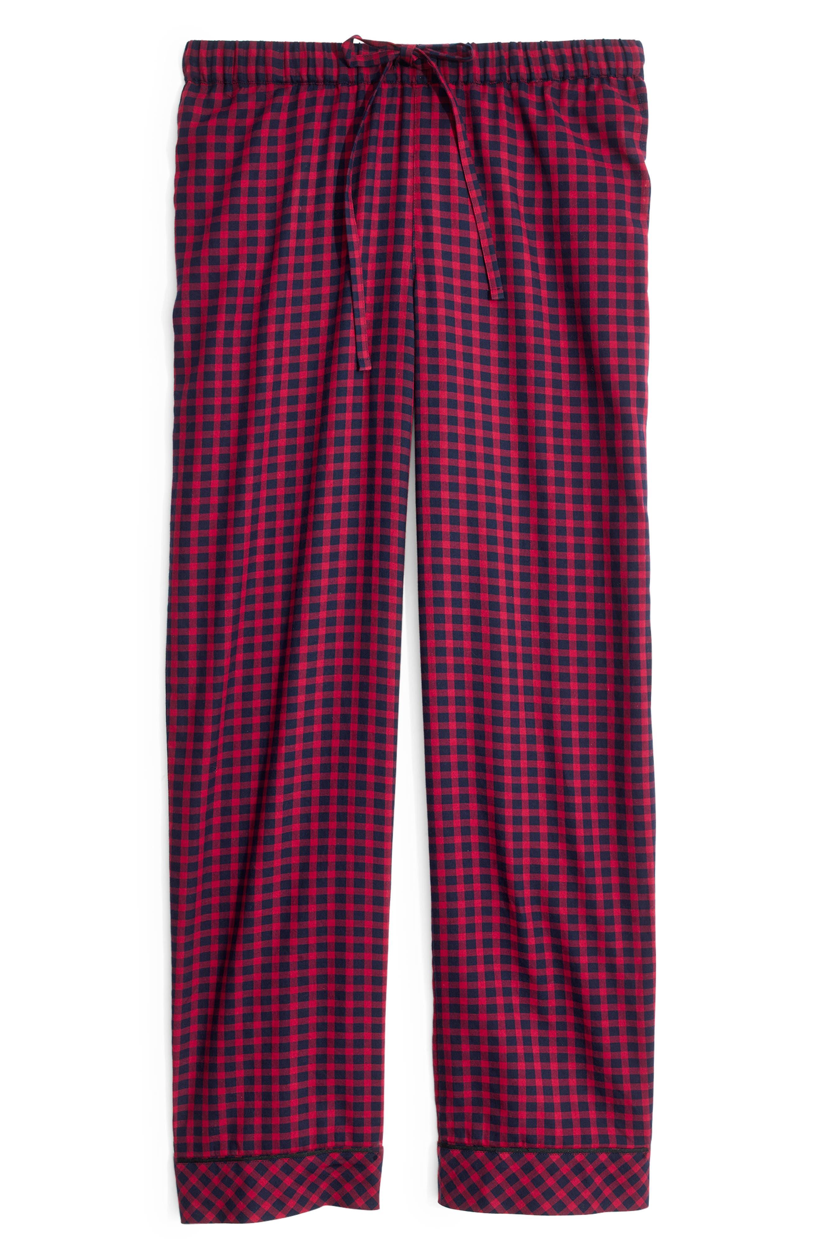 Bedtime Pajama Pants,                             Alternate thumbnail 4, color,                             CRANBERRY