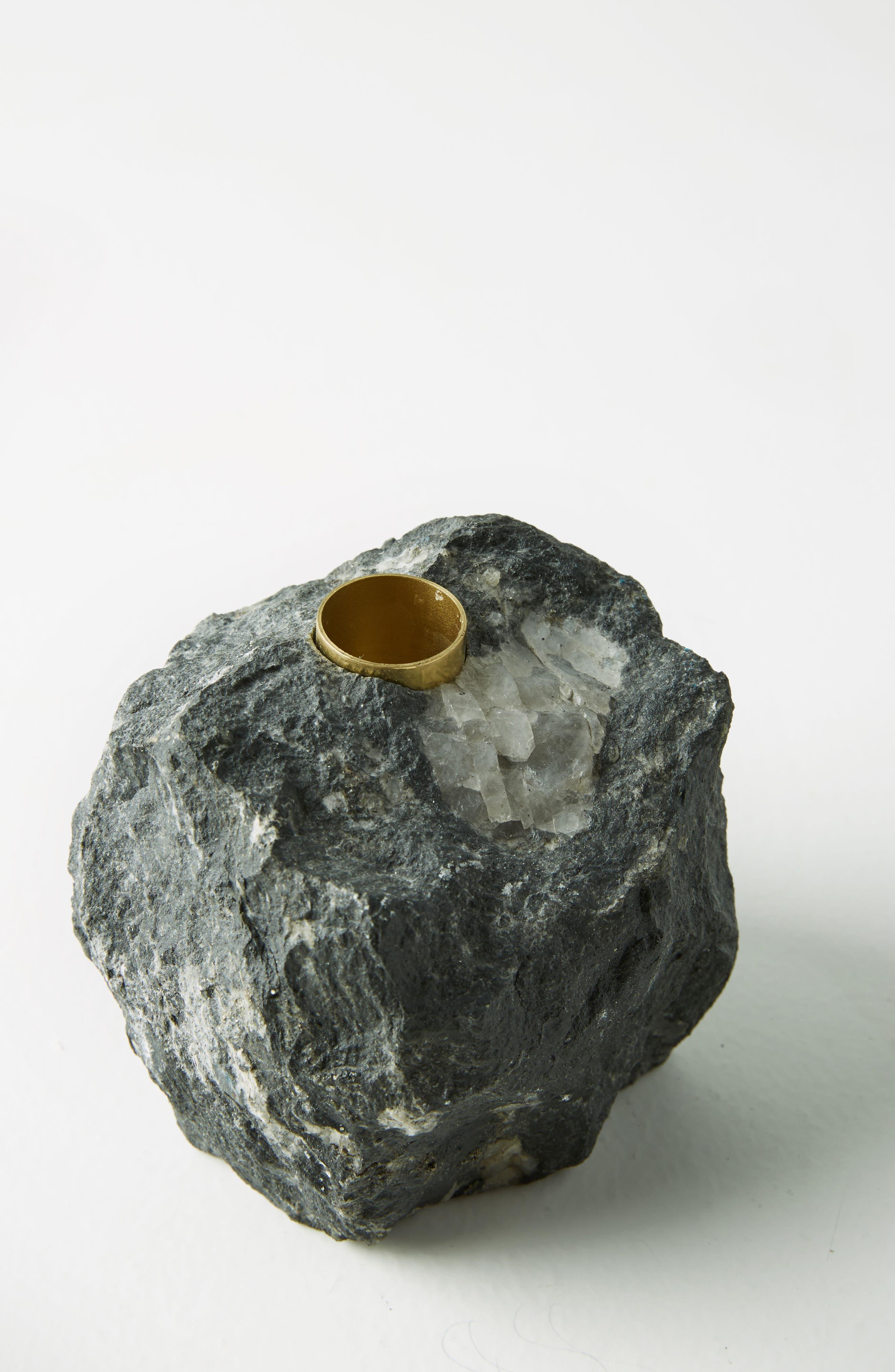 Stone Taper Candleholder,                             Alternate thumbnail 4, color,                             001