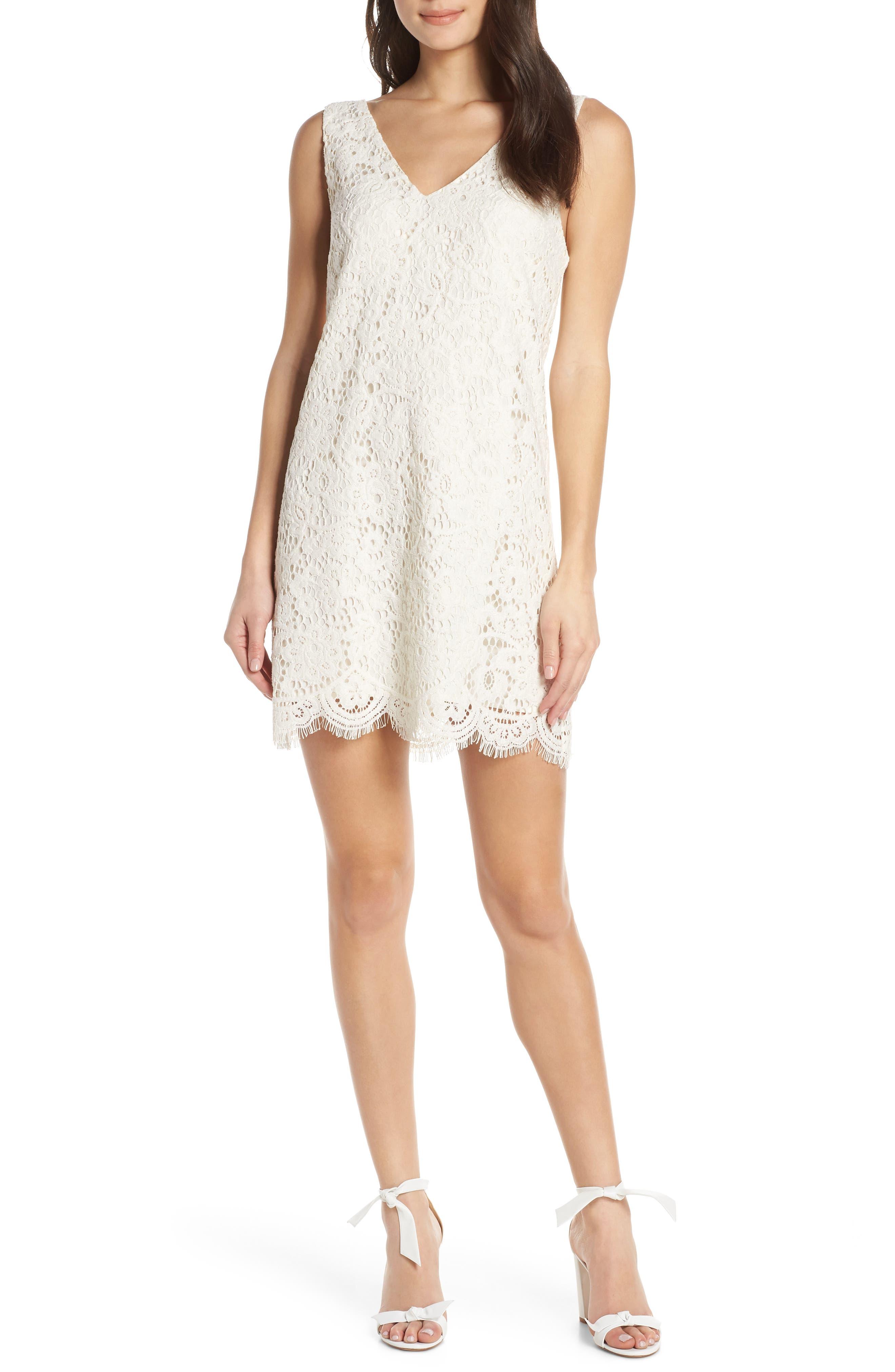 Bb Dakota Sleeveless Lace Shift Dress