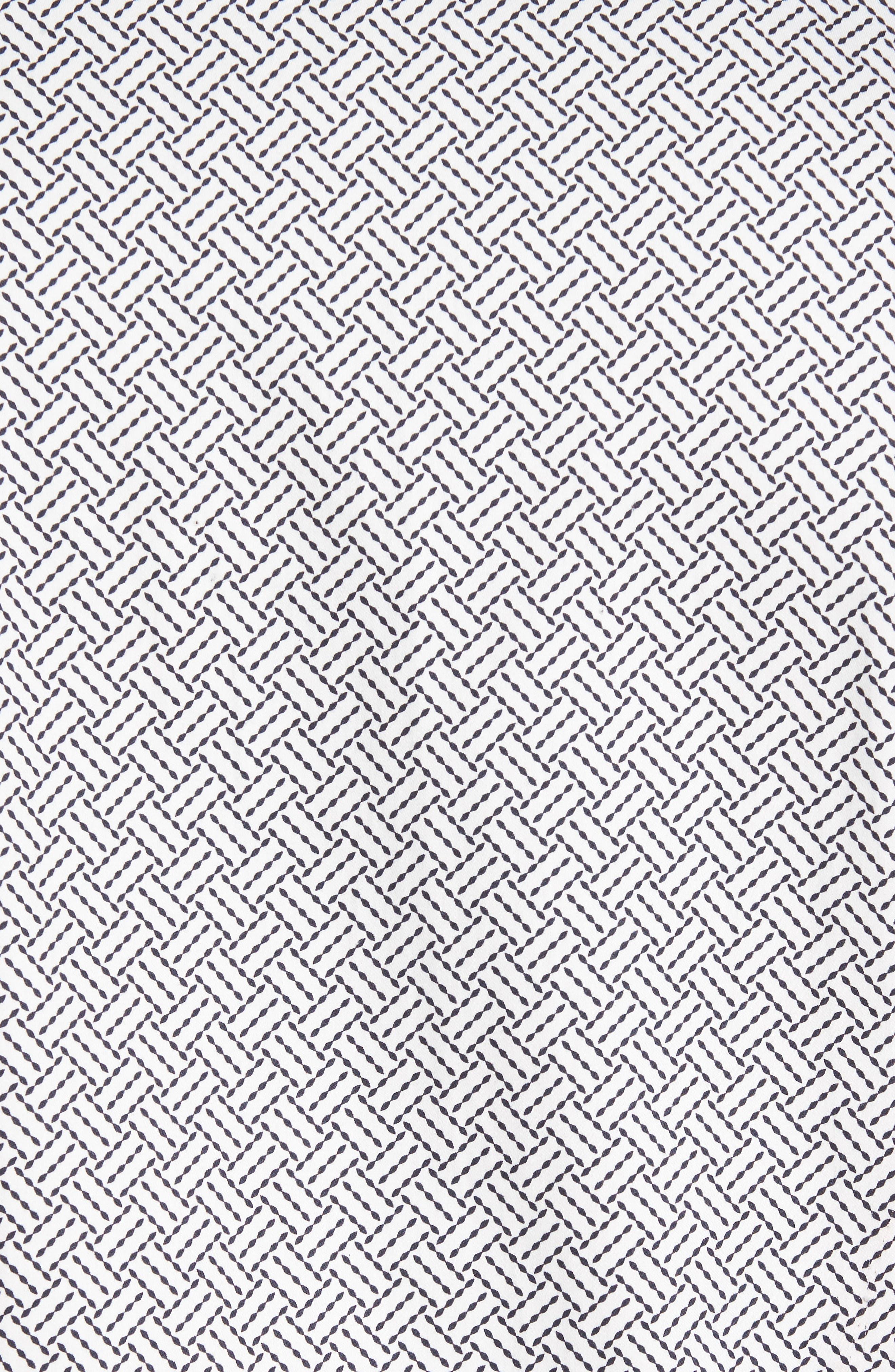 Larosh Slim Fit Basket Weave Print Sport Shirt,                             Alternate thumbnail 5, color,                             110