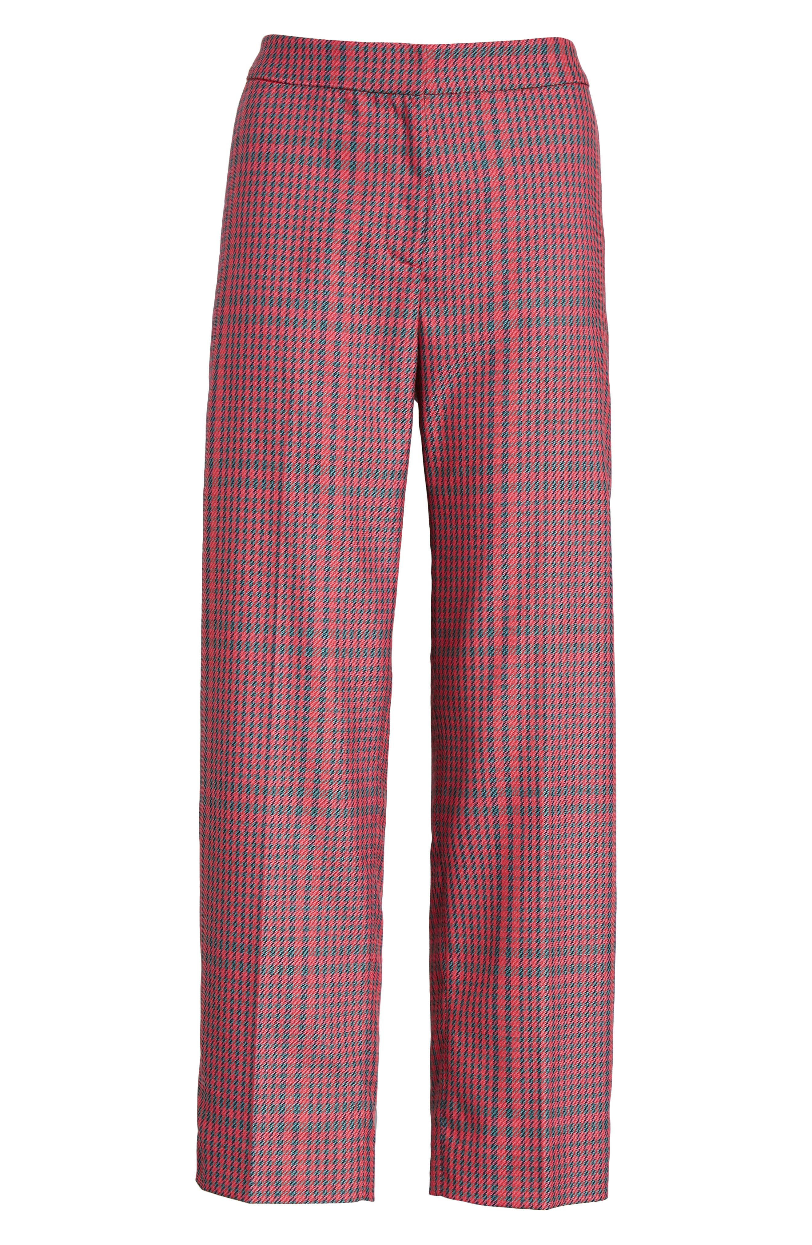 1901,                             Straight Leg Plaid Pants,                             Alternate thumbnail 7, color,                             PINK SIMONE PLAID