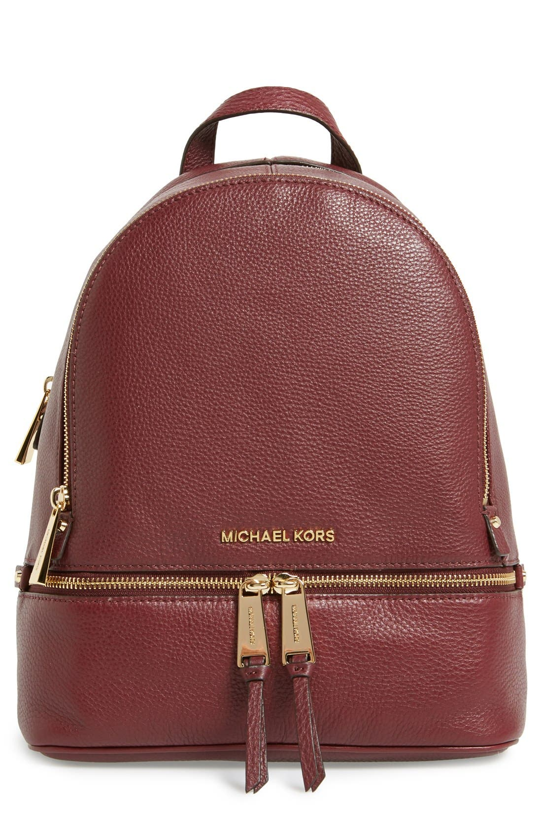 'Extra Small Rhea Zip' Leather Backpack,                             Main thumbnail 11, color,
